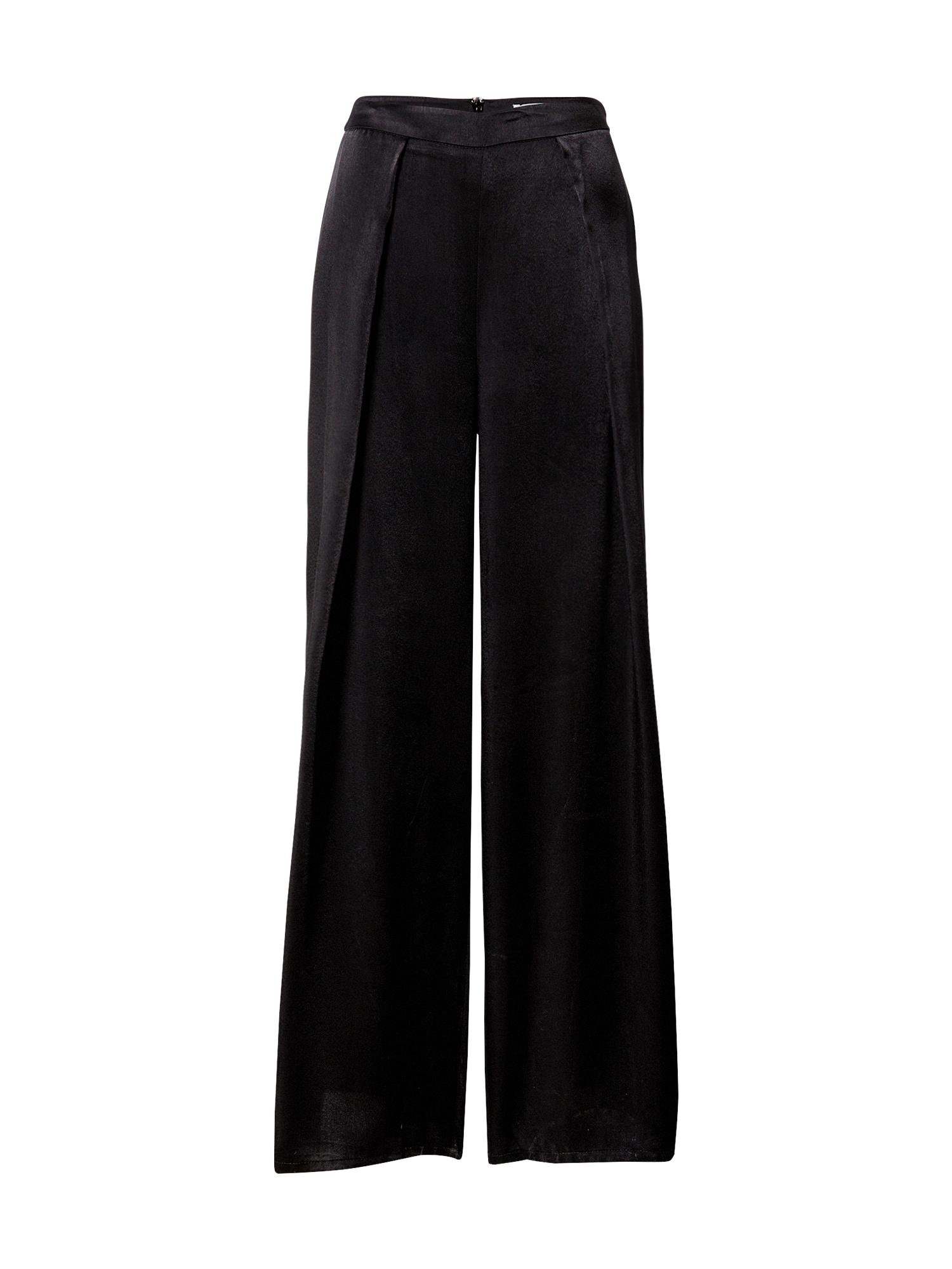 GLAMOROUS Klostuotos kelnės juoda