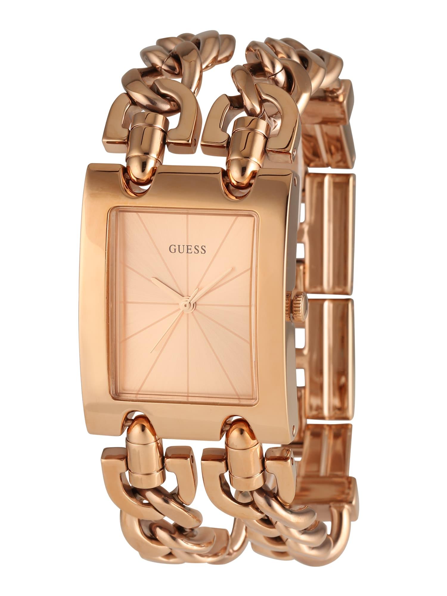 GUESS Analoginis (įprasto dizaino) laikrodis rožinio aukso spalva