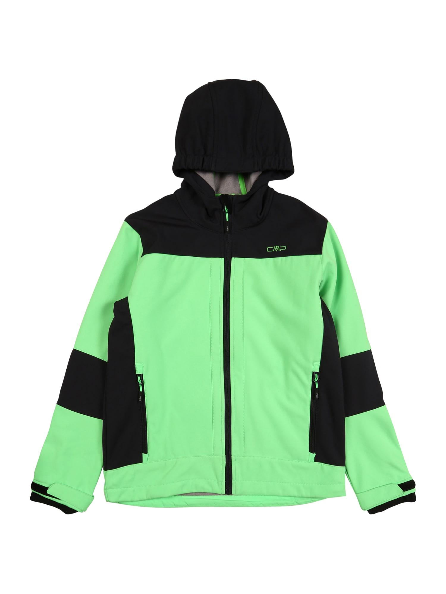 CMP Outdoorová bunda  černá / limetková