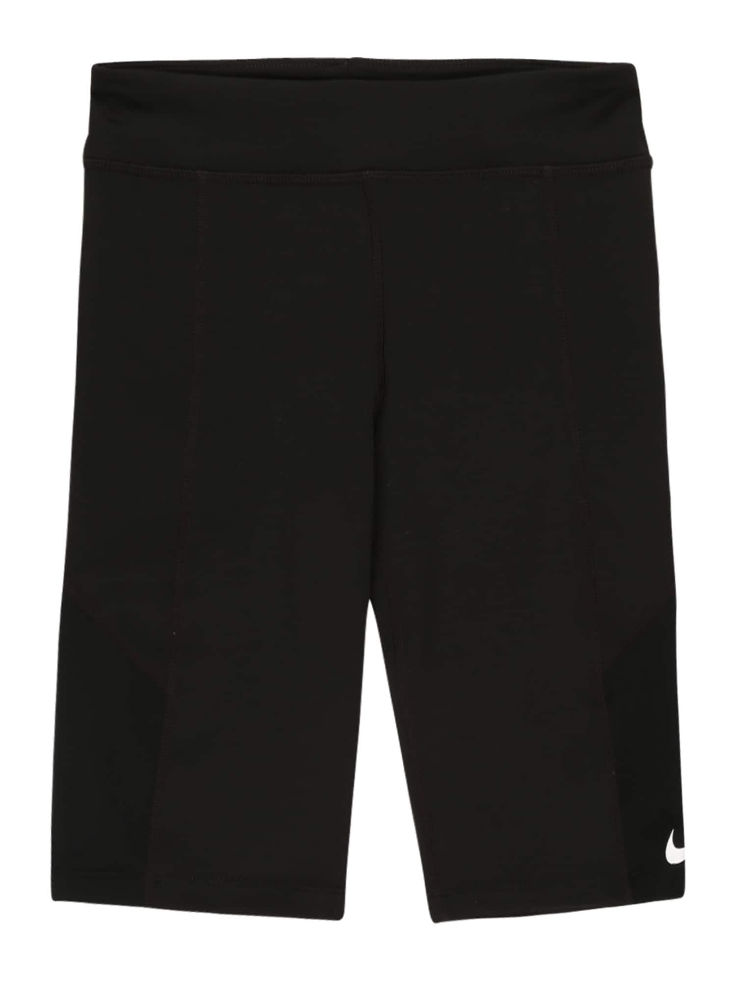 NIKE Sportovní kalhoty 'Trophy'  černá / bílá