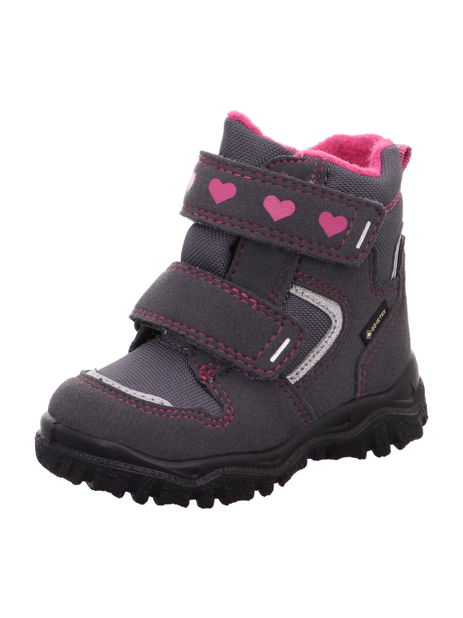 SUPERFIT Sniego batai 'HUSKY1' rožių spalva / pilka