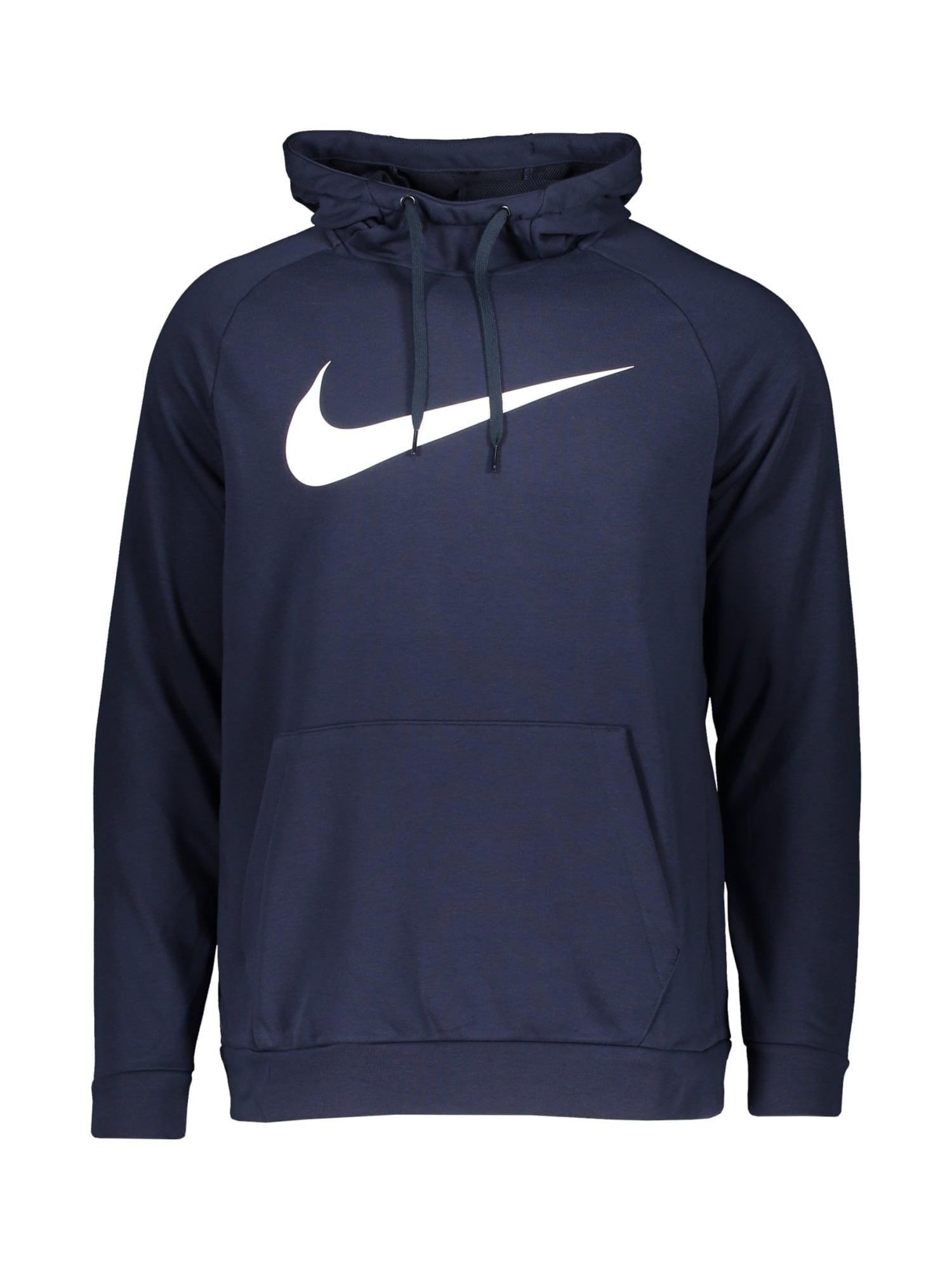 NIKE Sportinio tipo megztinis tamsiai mėlyna jūros spalva / balta