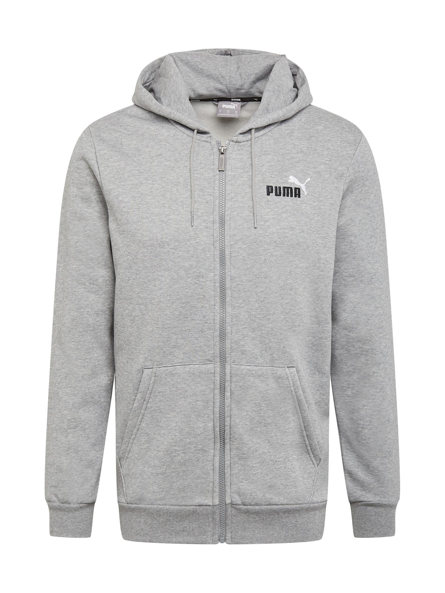PUMA Sportinis džemperis margai pilka
