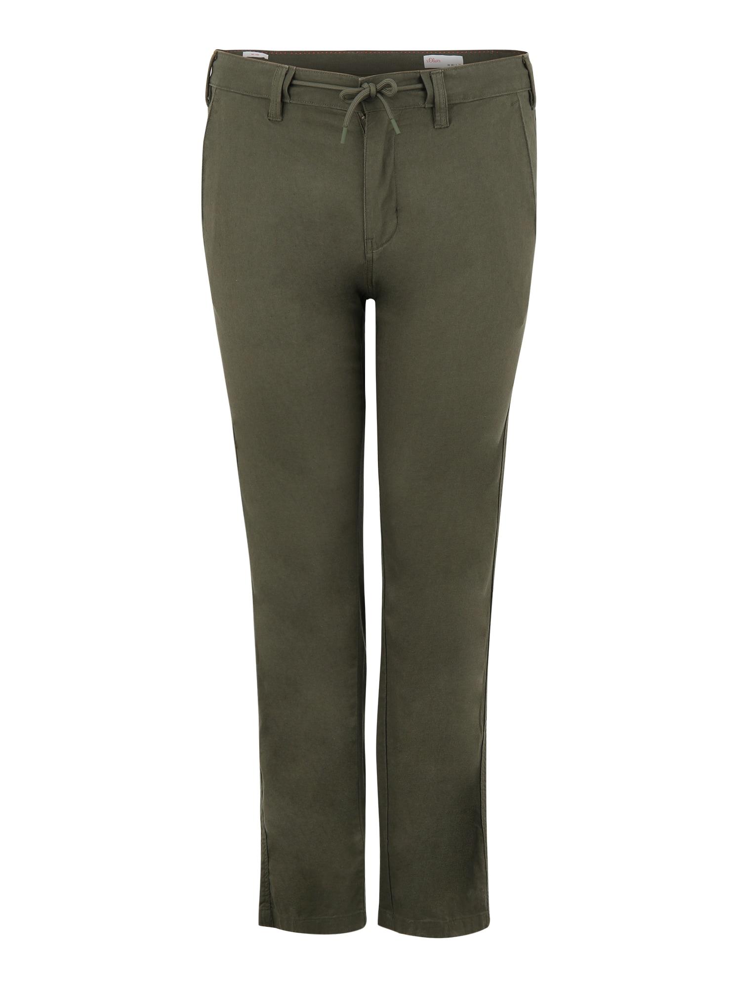 s.Oliver Red Label Big & Tall Kelnės tamsiai žalia