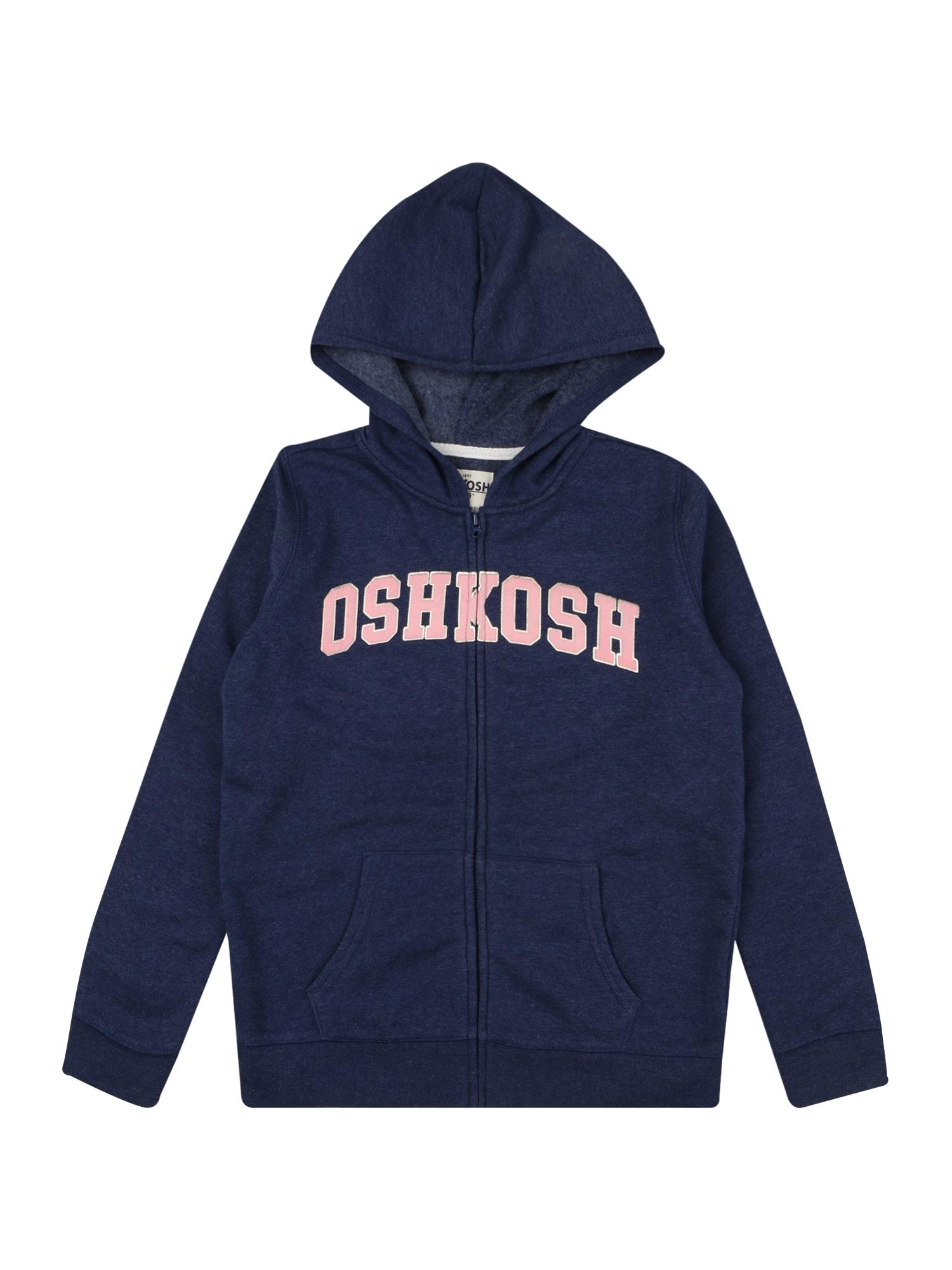 OshKosh Džemperis tamsiai mėlyna / rožių spalva / sidabrinė