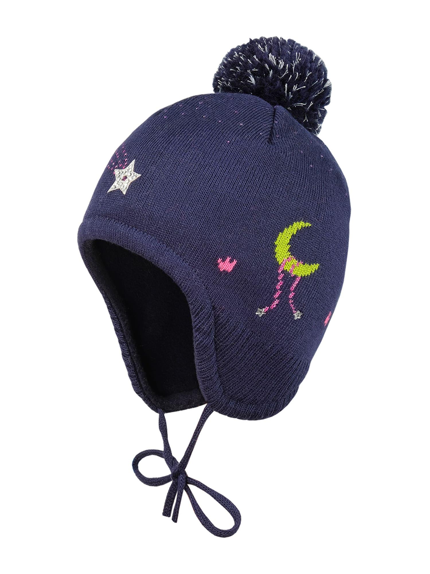 MAXIMO Megzta kepurė tamsiai mėlyna / geltona / rožinė / balta