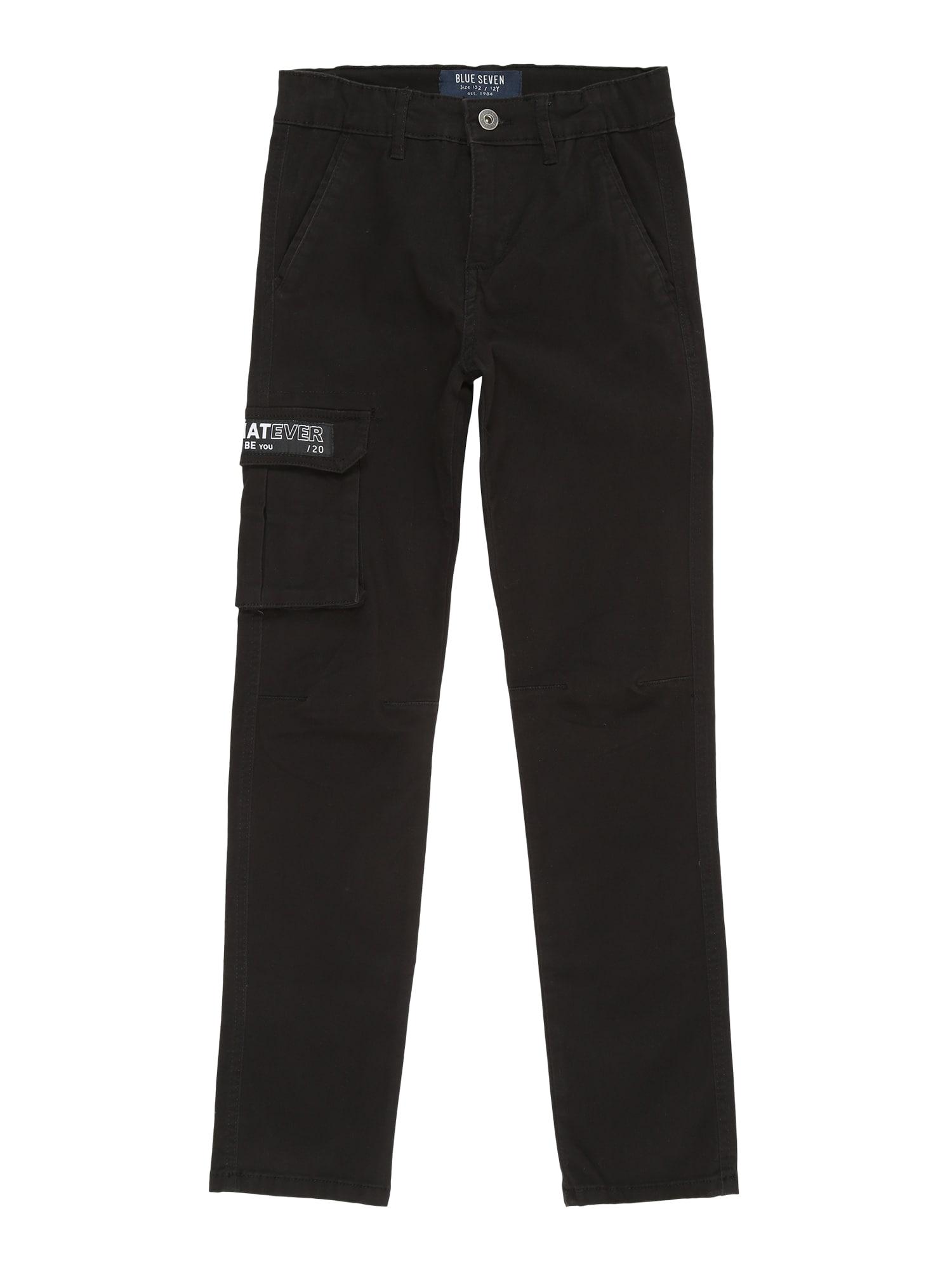 BLUE SEVEN Kelnės juoda / balta