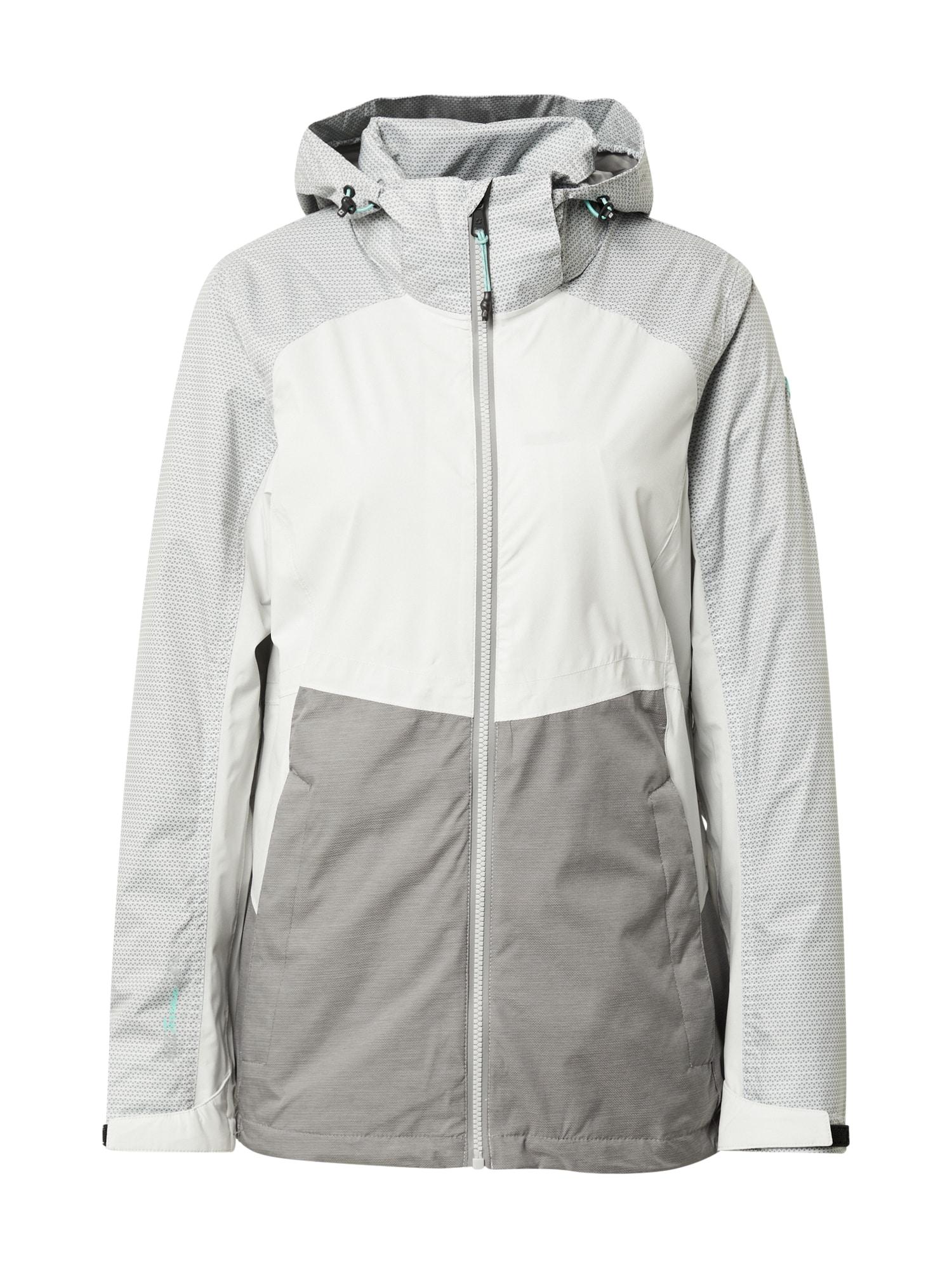 KILLTEC Sportovní bunda 'Sveti'  šedá / bílá / světle šedá
