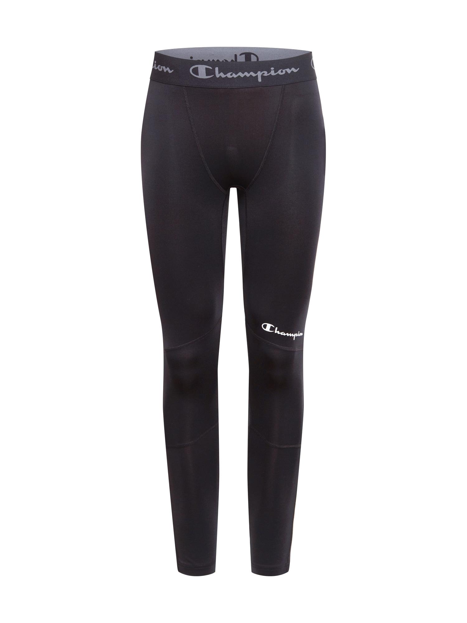 Champion Authentic Athletic Apparel Sportovní kalhoty  černá / bílá / šedá