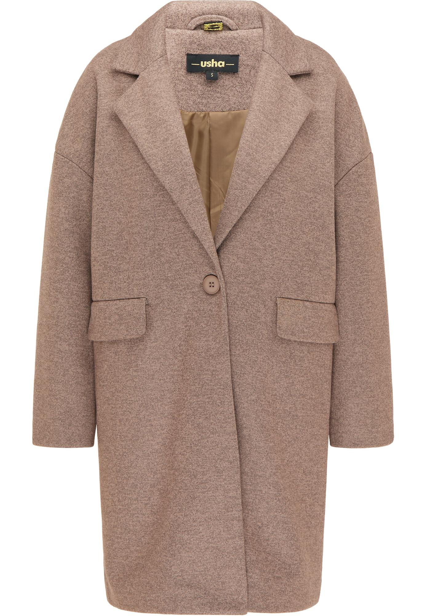 usha BLACK LABEL Demisezoninis paltas margai ruda