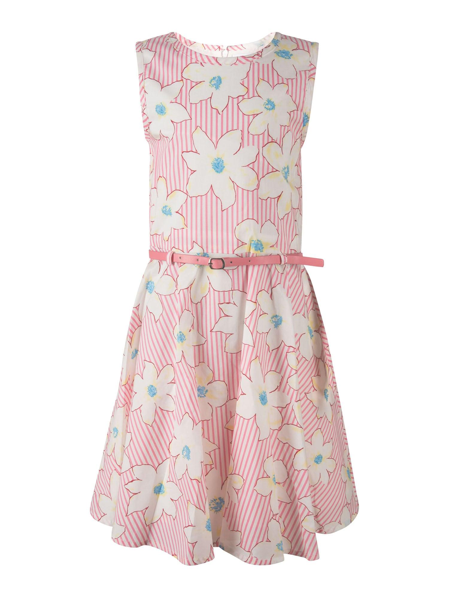 happy girls Suknelė šviesiai rožinė / natūrali balta / geltona