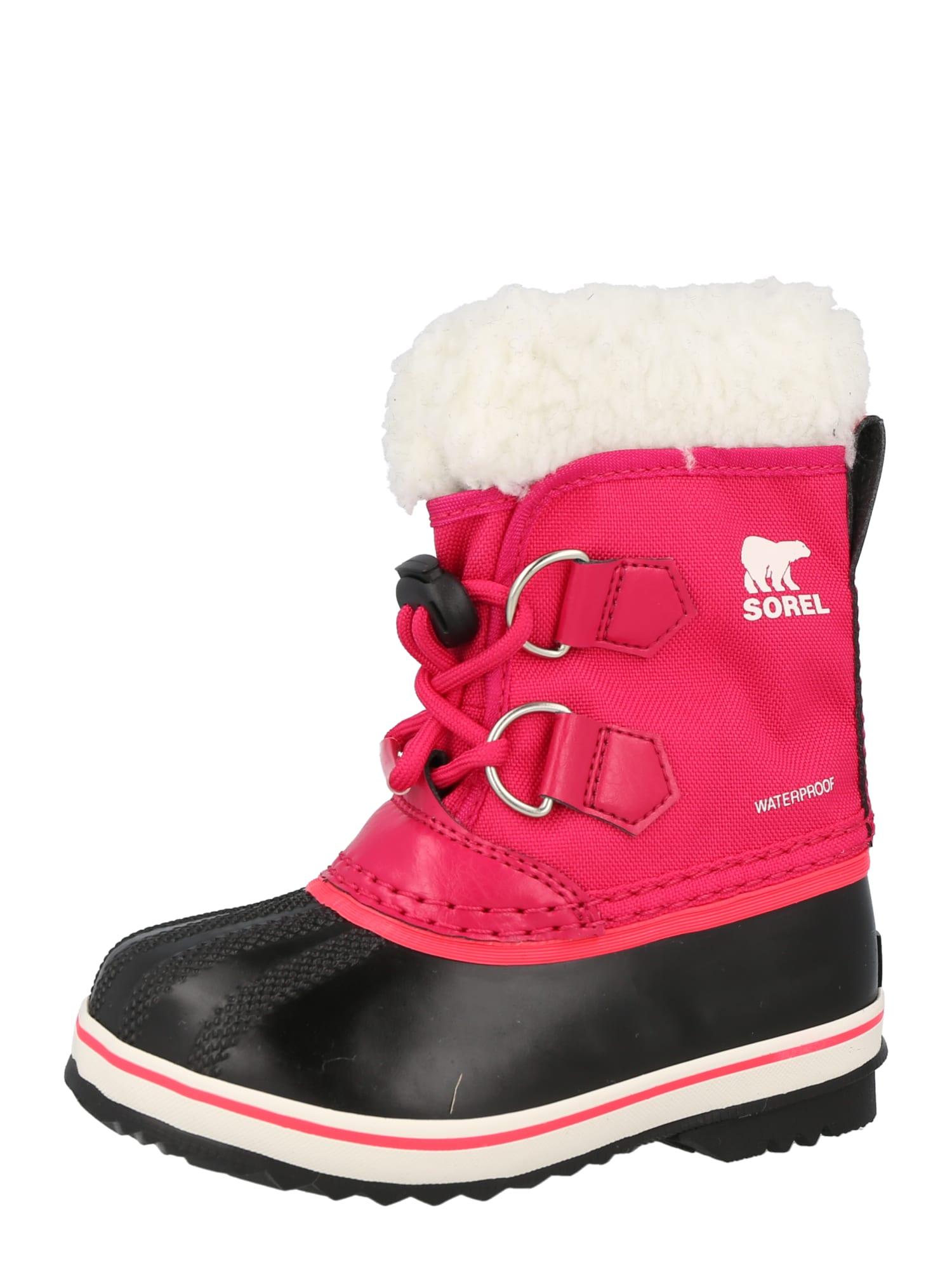 SOREL Sněhule 'YOOT PAC'  pink / černá / bílá
