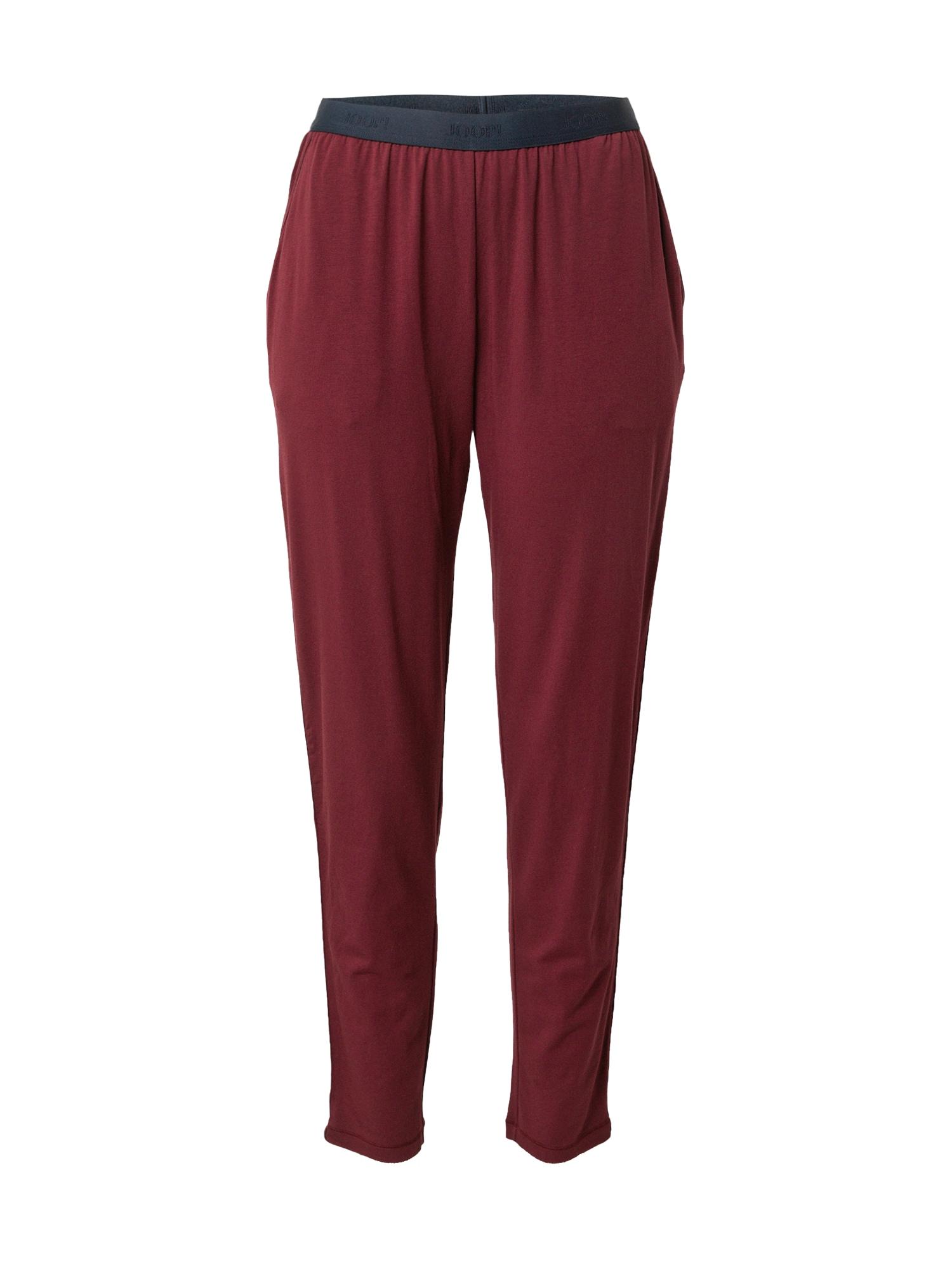 JOOP! Bodywear Pižaminės kelnės vyno raudona spalva / tamsiai mėlyna