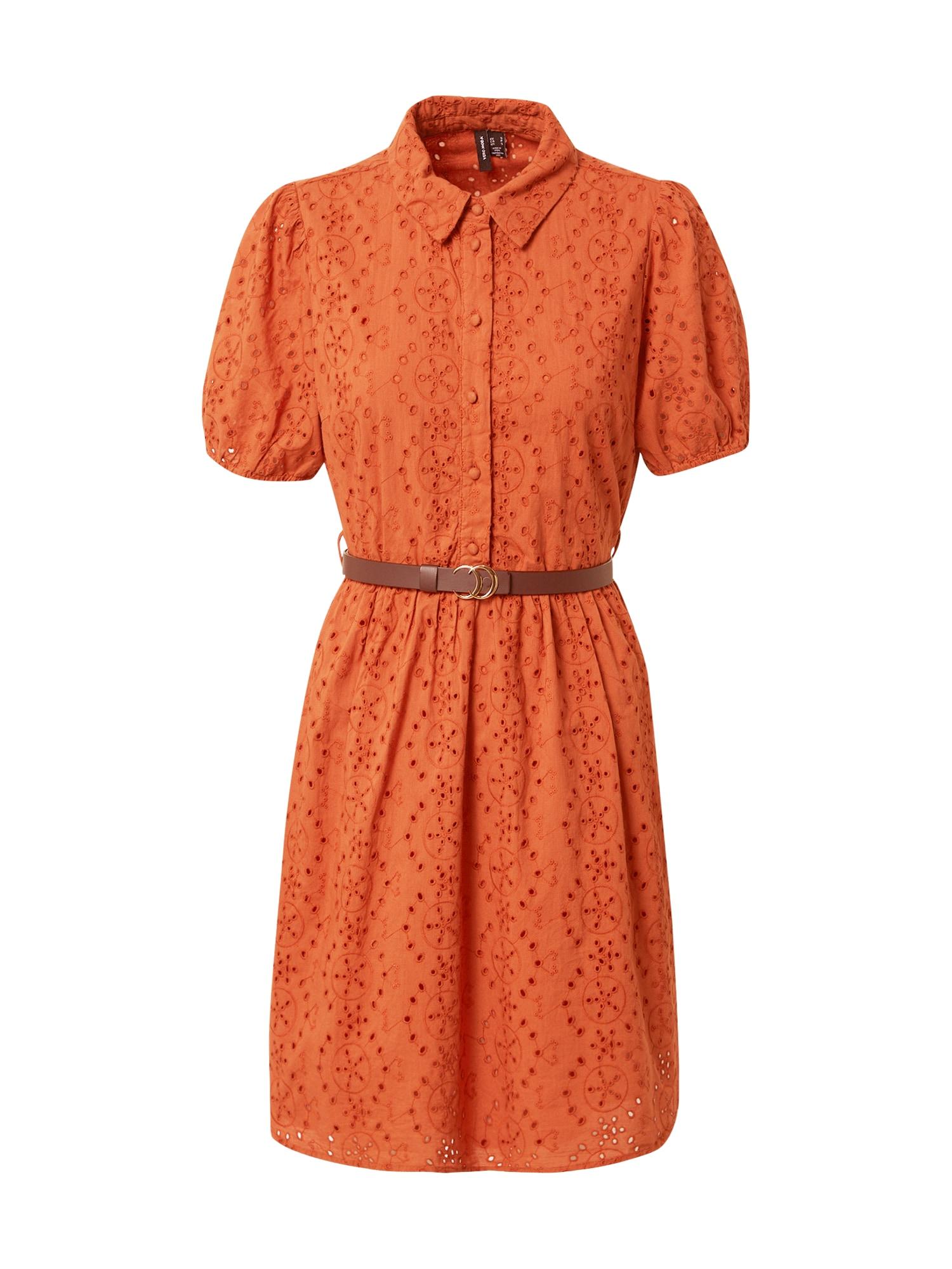 VERO MODA Košilové šaty 'Ellie'  pastelově oranžová