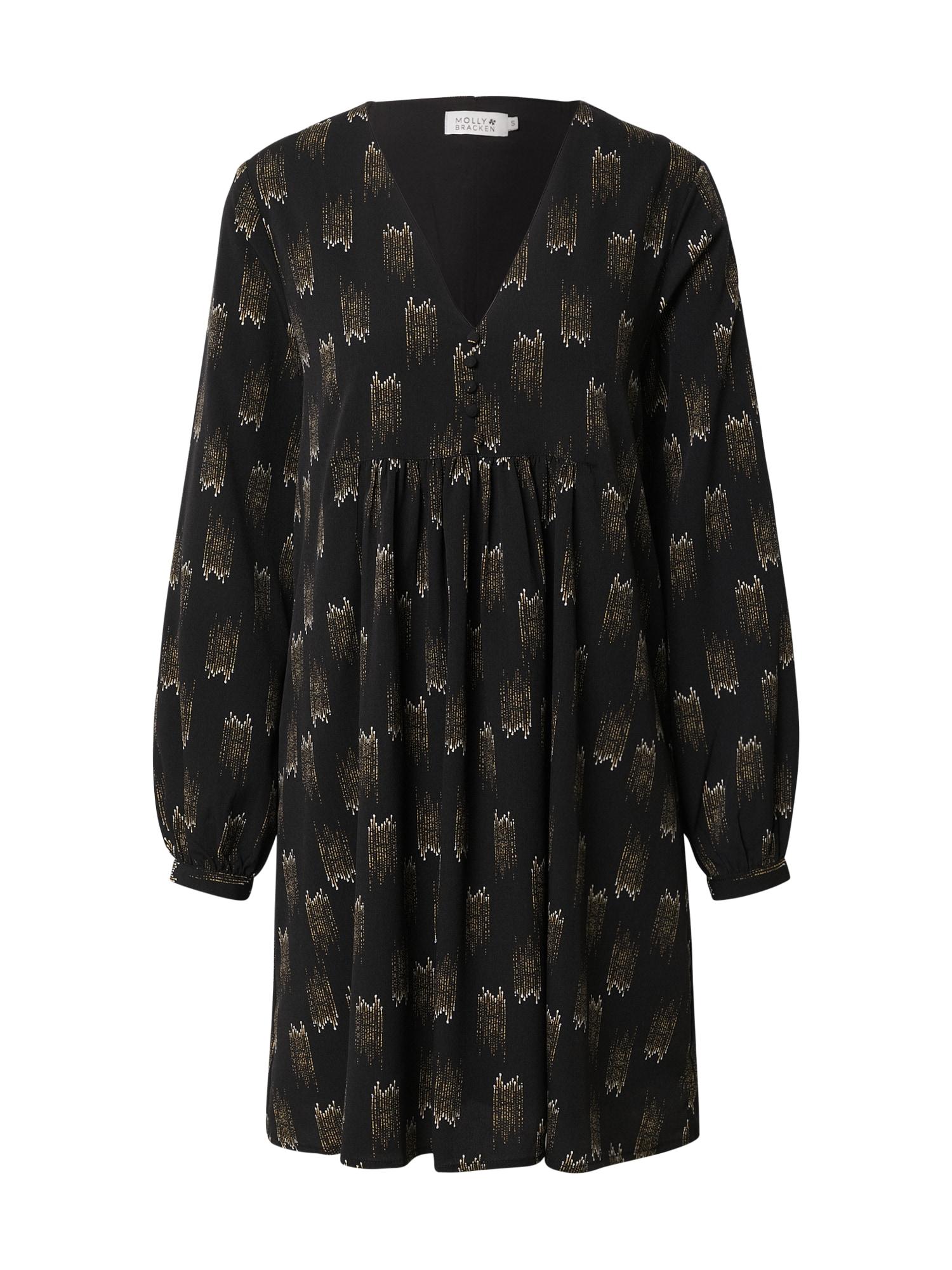 Molly BRACKEN Palaidinės tipo suknelė juoda / smėlio / balta