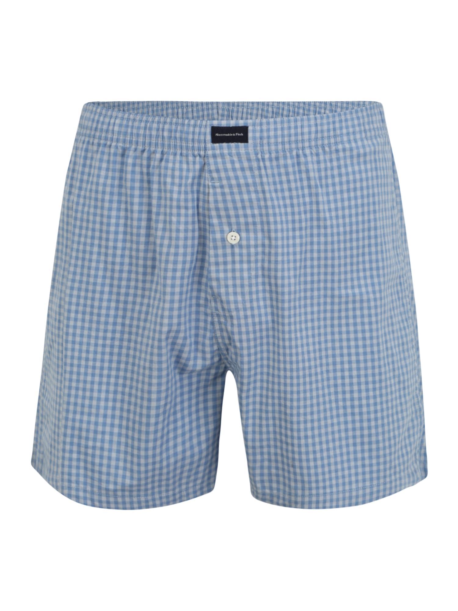 Abercrombie & Fitch Boxer trumpikės šviesiai mėlyna / azuro spalva / juoda