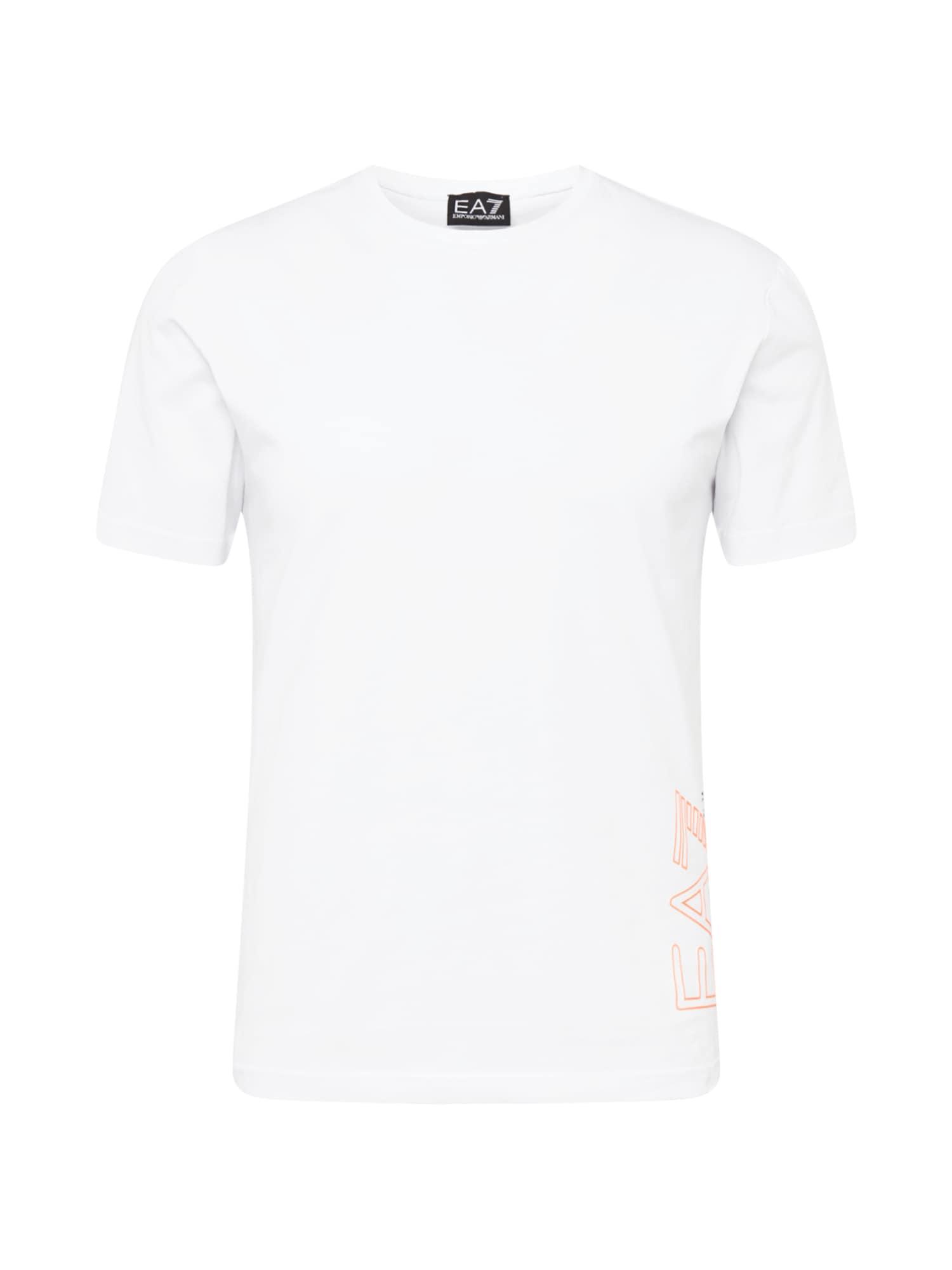 EA7 Emporio Armani Marškinėliai balta / oranžinė / antracito