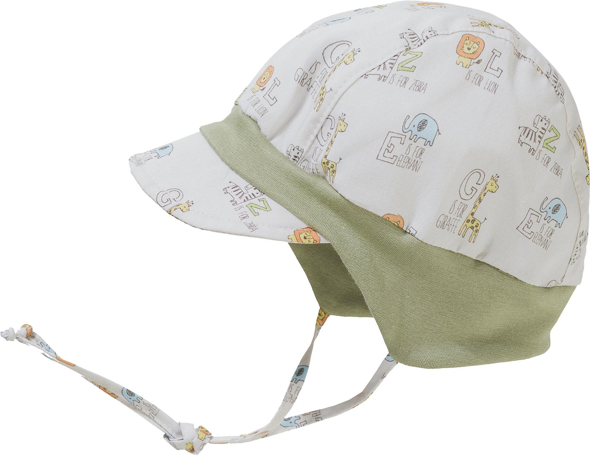 MAXIMO Megzta kepurė alyvuogių spalva / šviesiai pilka / šviesiai mėlyna / geltona / oranžinė