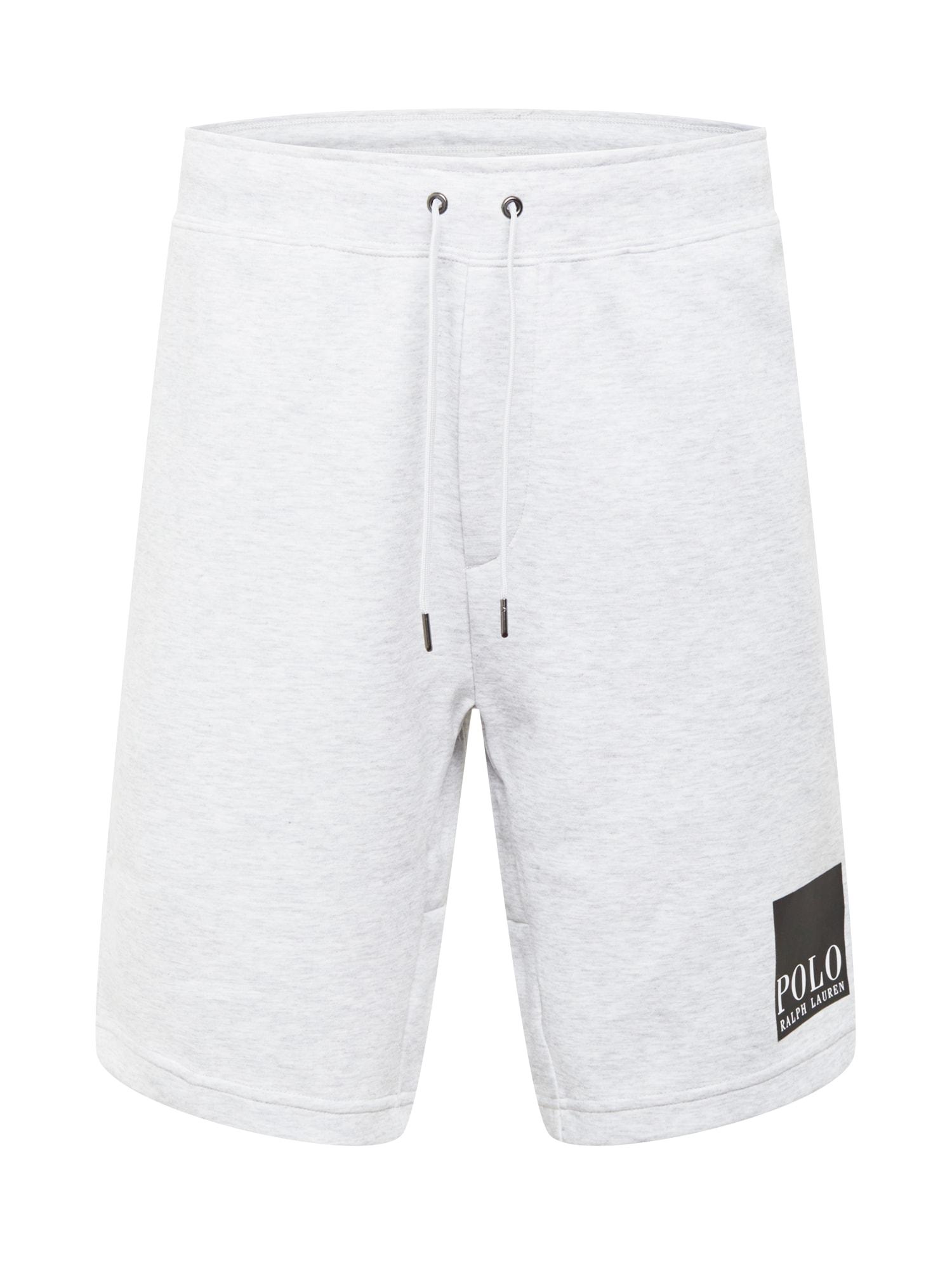 POLO RALPH LAUREN Kalhoty  světle šedá / černá / bílá