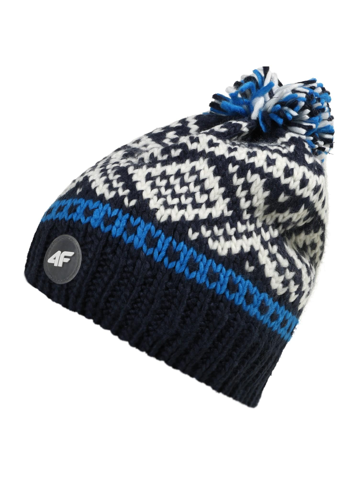 4F Sportinė kepurė tamsiai mėlyna / balta / mėlyna