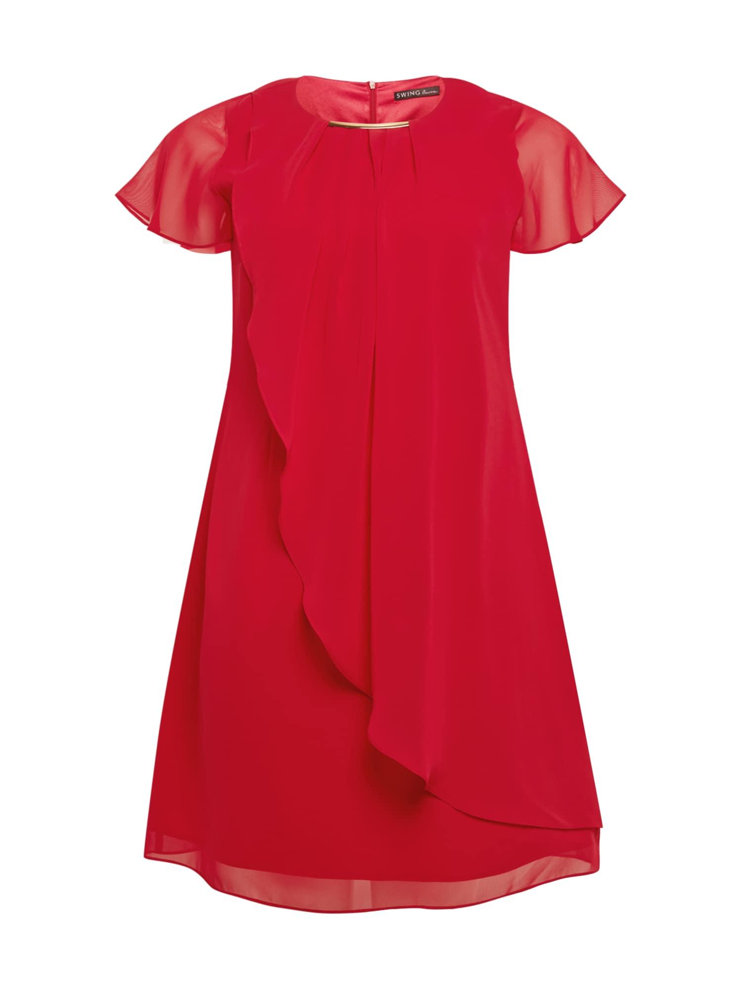 SWING Curve Kokteilinė suknelė raudona