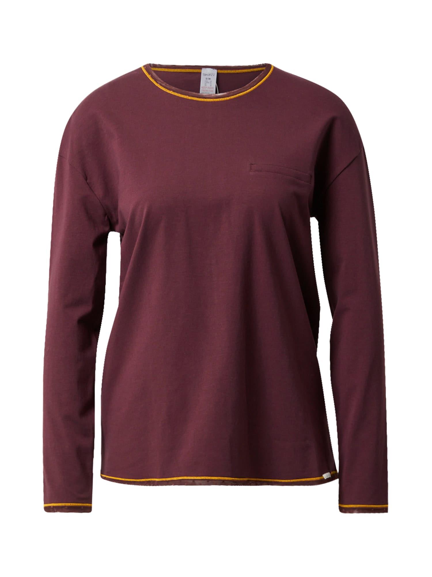 Skiny Pižaminiai marškinėliai tamsiai violetinė / oranžinė
