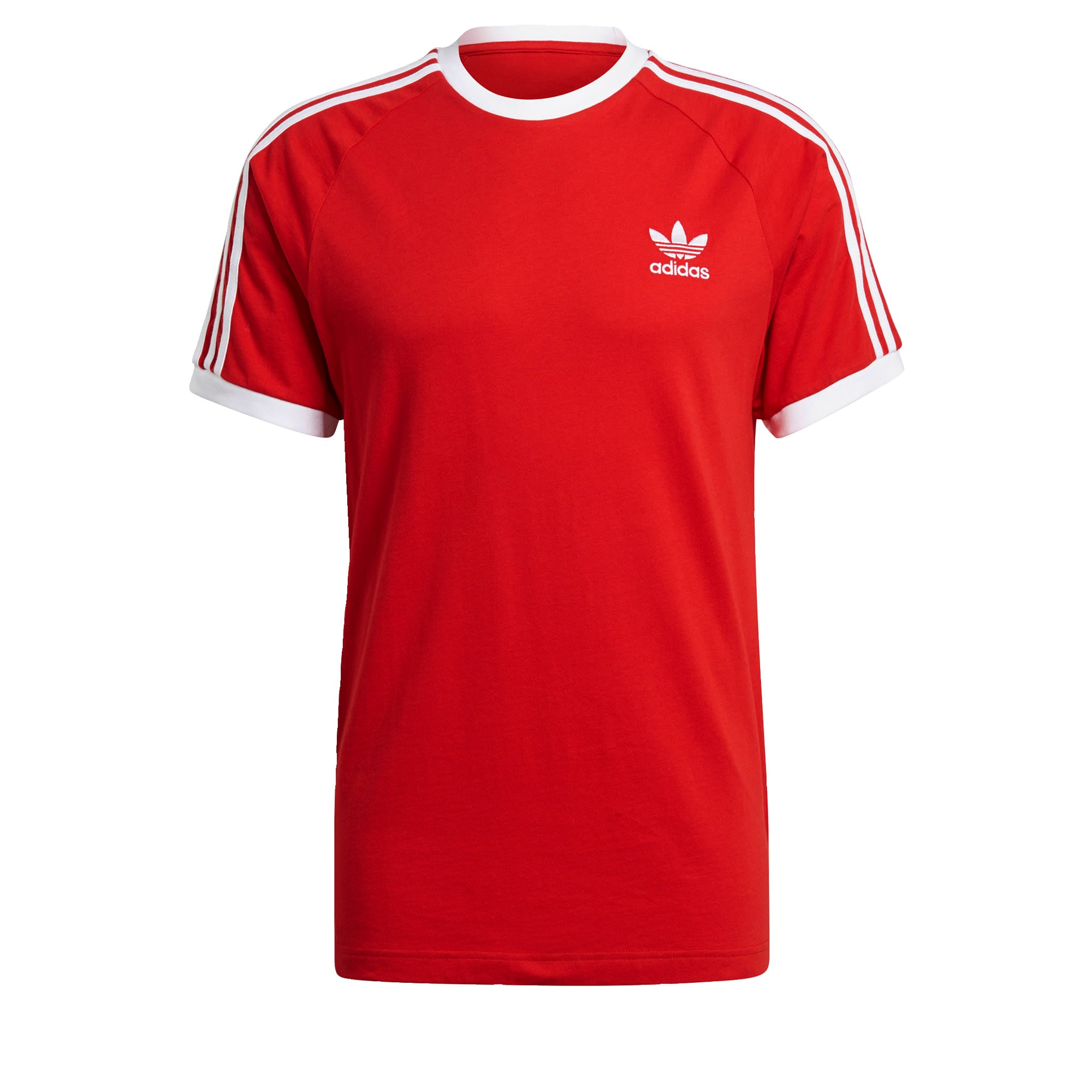 ADIDAS ORIGINALS Marškinėliai raudona / balta