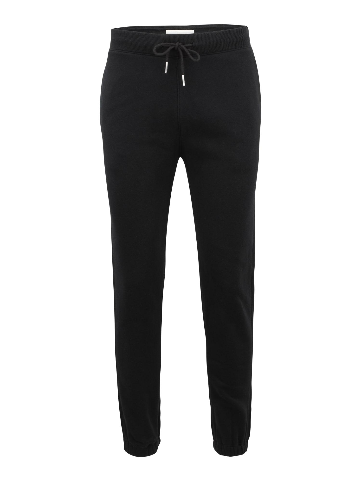 Abercrombie & Fitch Pižaminės kelnės juoda
