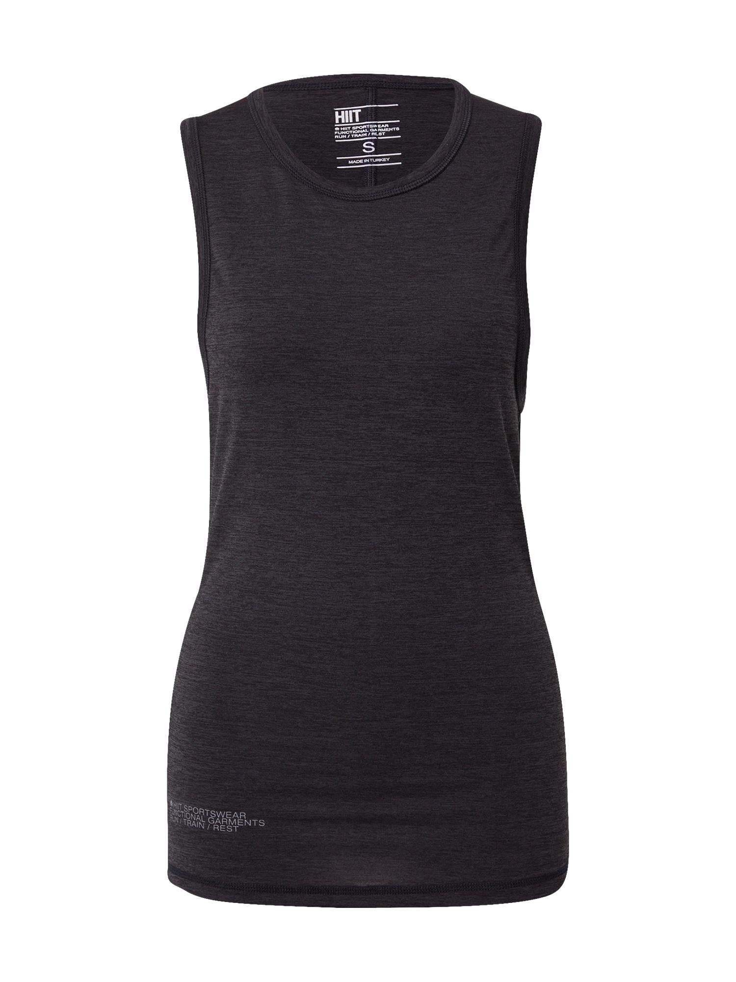 HIIT Sportiniai marškinėliai be rankovių margai juoda / pilka