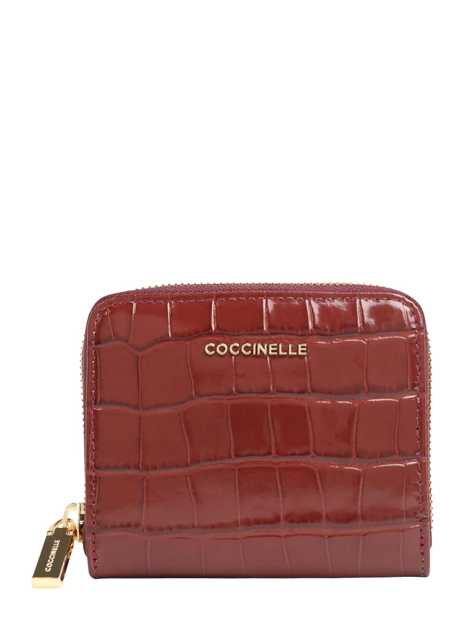 Coccinelle Piniginė tamsiai raudona