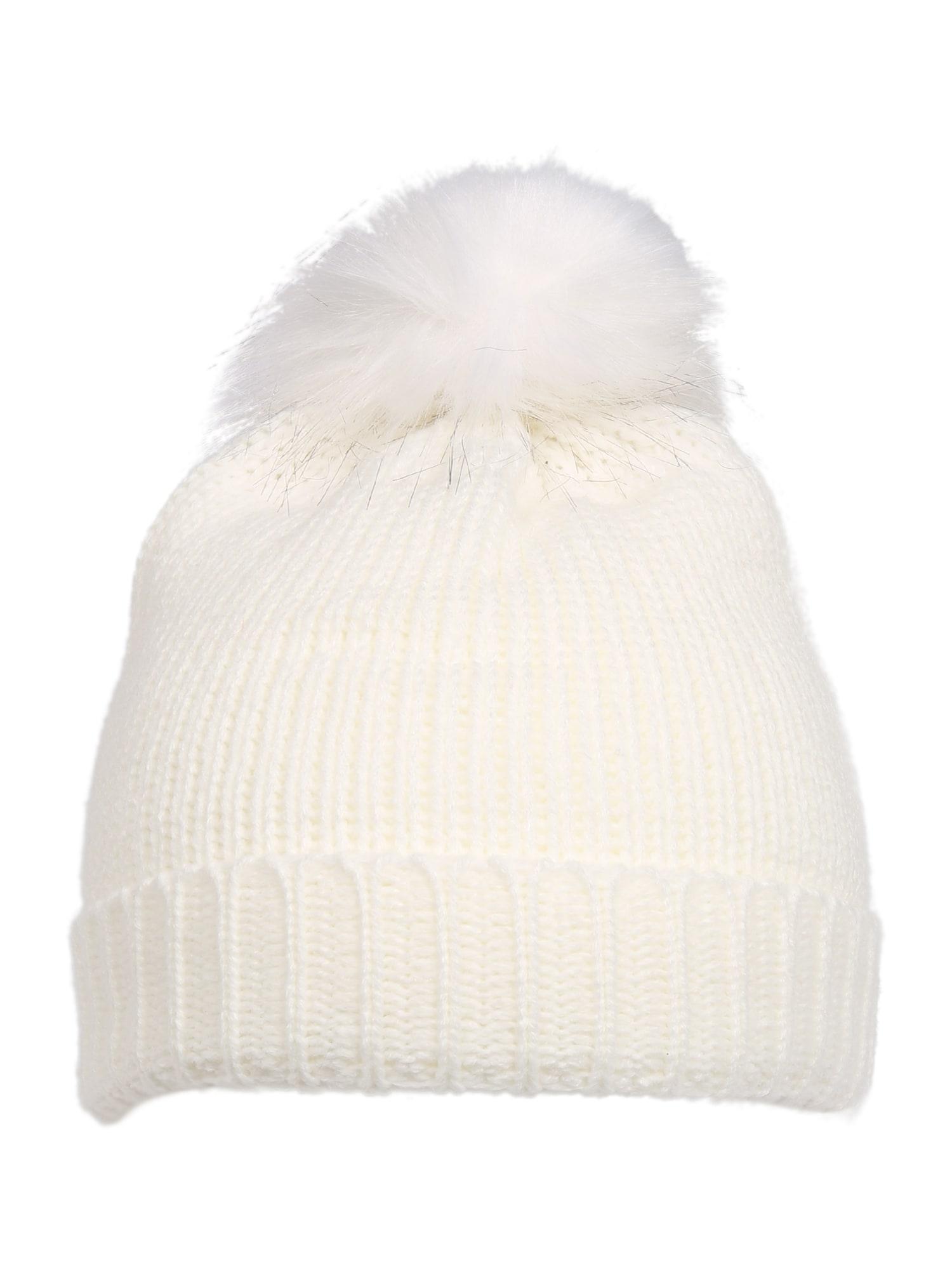 BLUE SEVEN Megzta kepurė balta