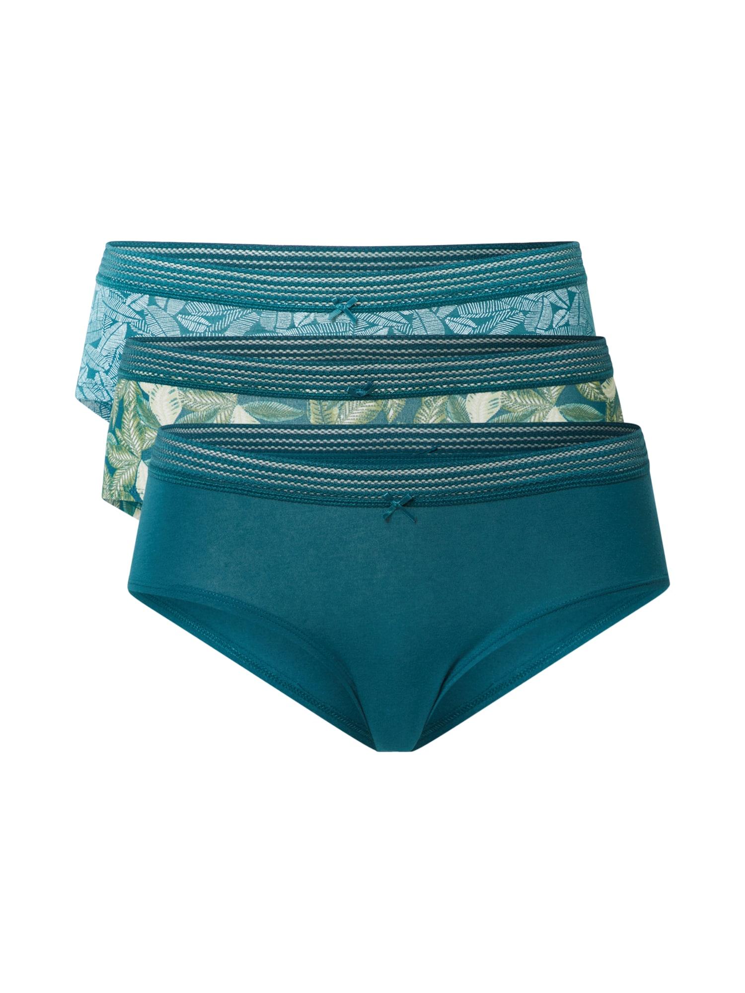 ETAM Kalhotky  tyrkysová / světle zelená / bílá