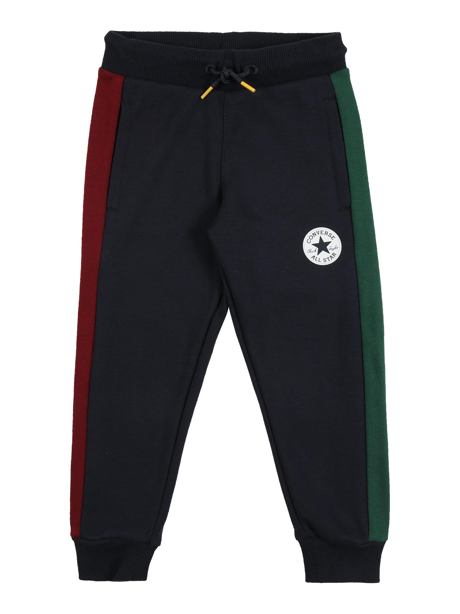 CONVERSE Kelnės tamsiai mėlyna / raudona / žalia