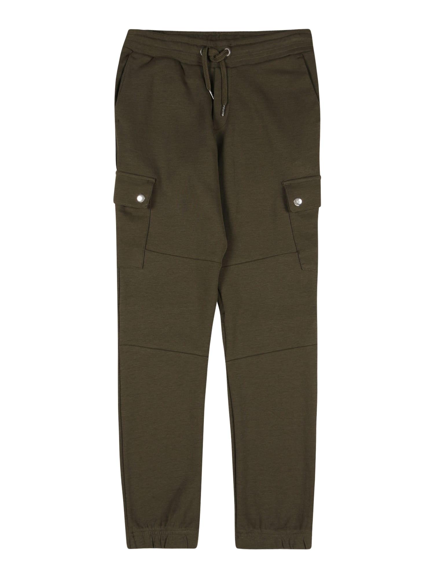 Jack & Jones Junior Kelnės tamsiai žalia