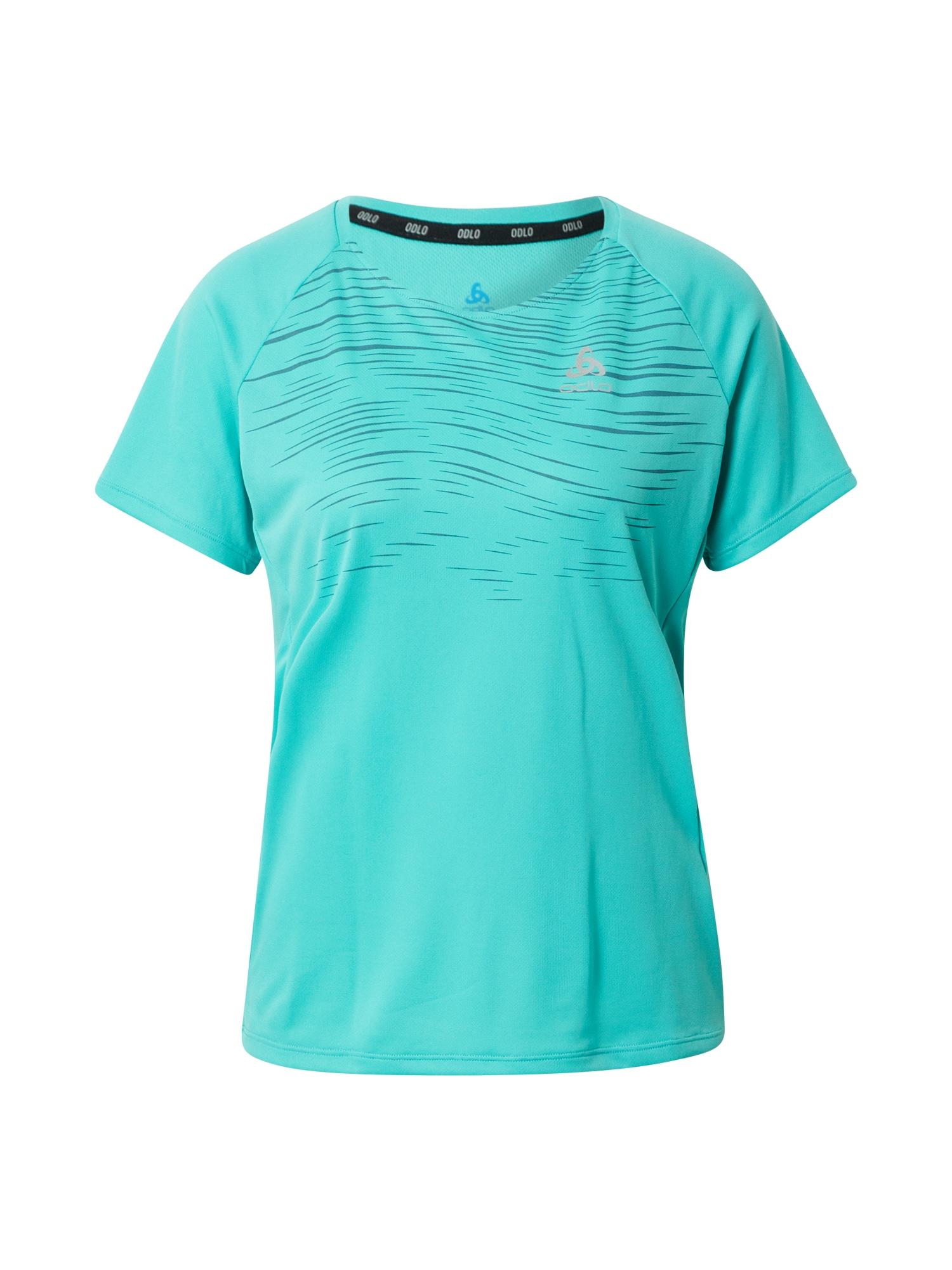 ODLO Sportiniai marškinėliai nefrito spalva / tamsiai mėlyna