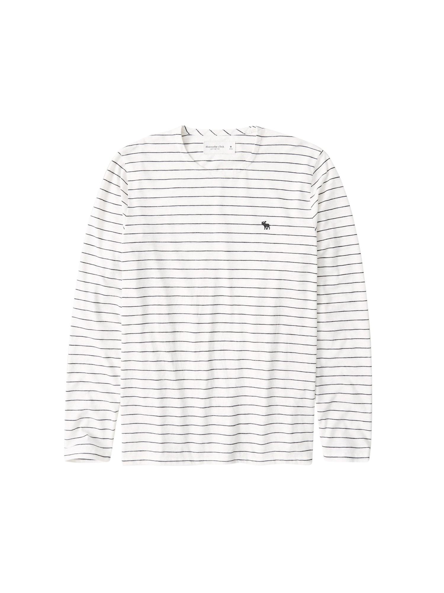 Abercrombie & Fitch Tričko  bílá / černá