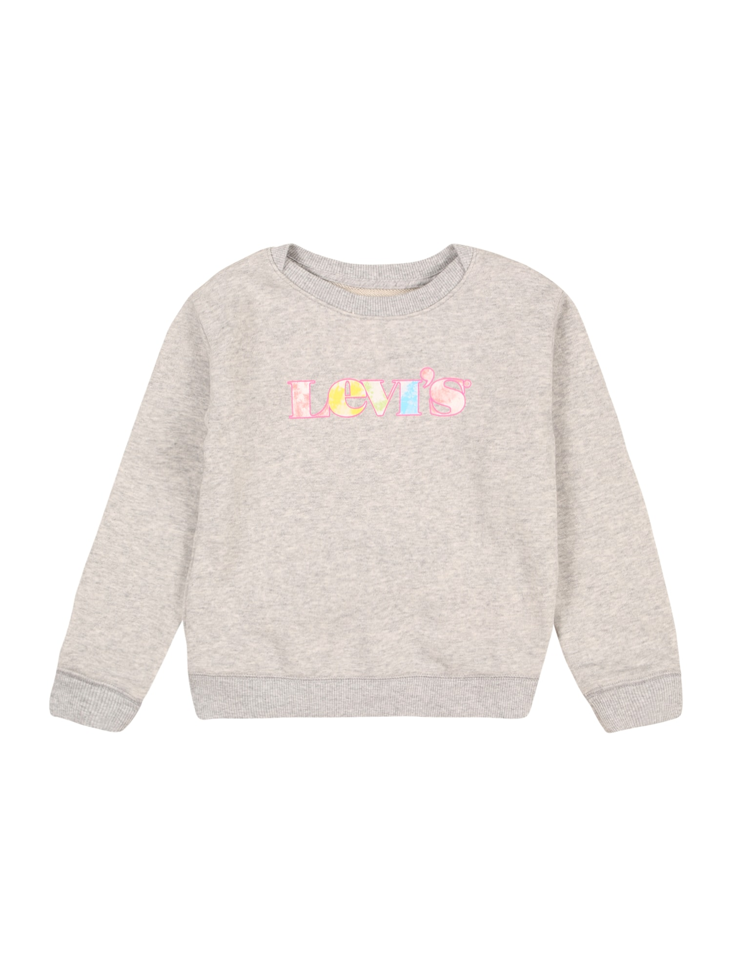 LEVI'S Mikina  světle šedá / pink / žlutá / tyrkysová