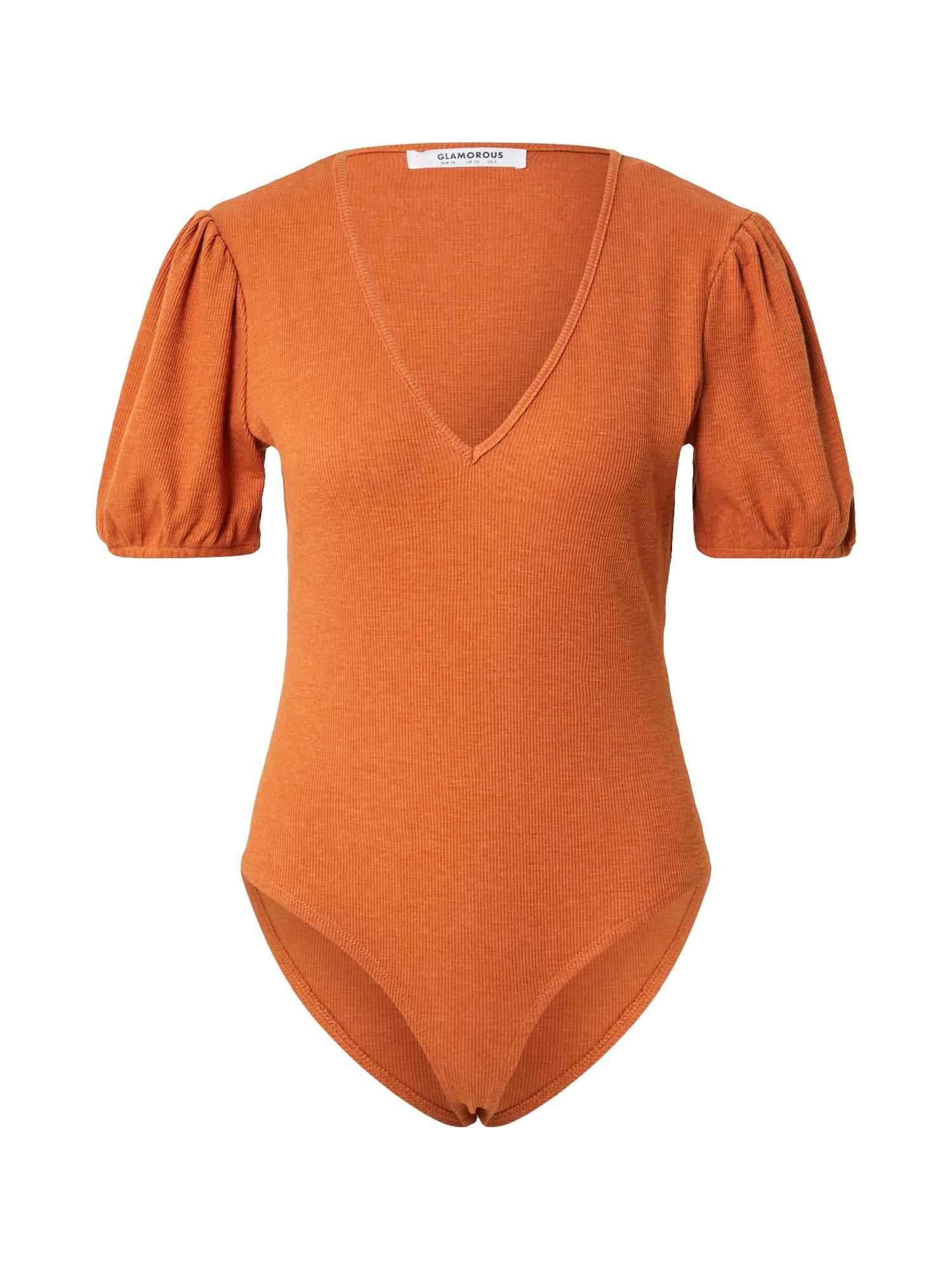 GLAMOROUS Marškinėliai-glaustinukė oranžinė