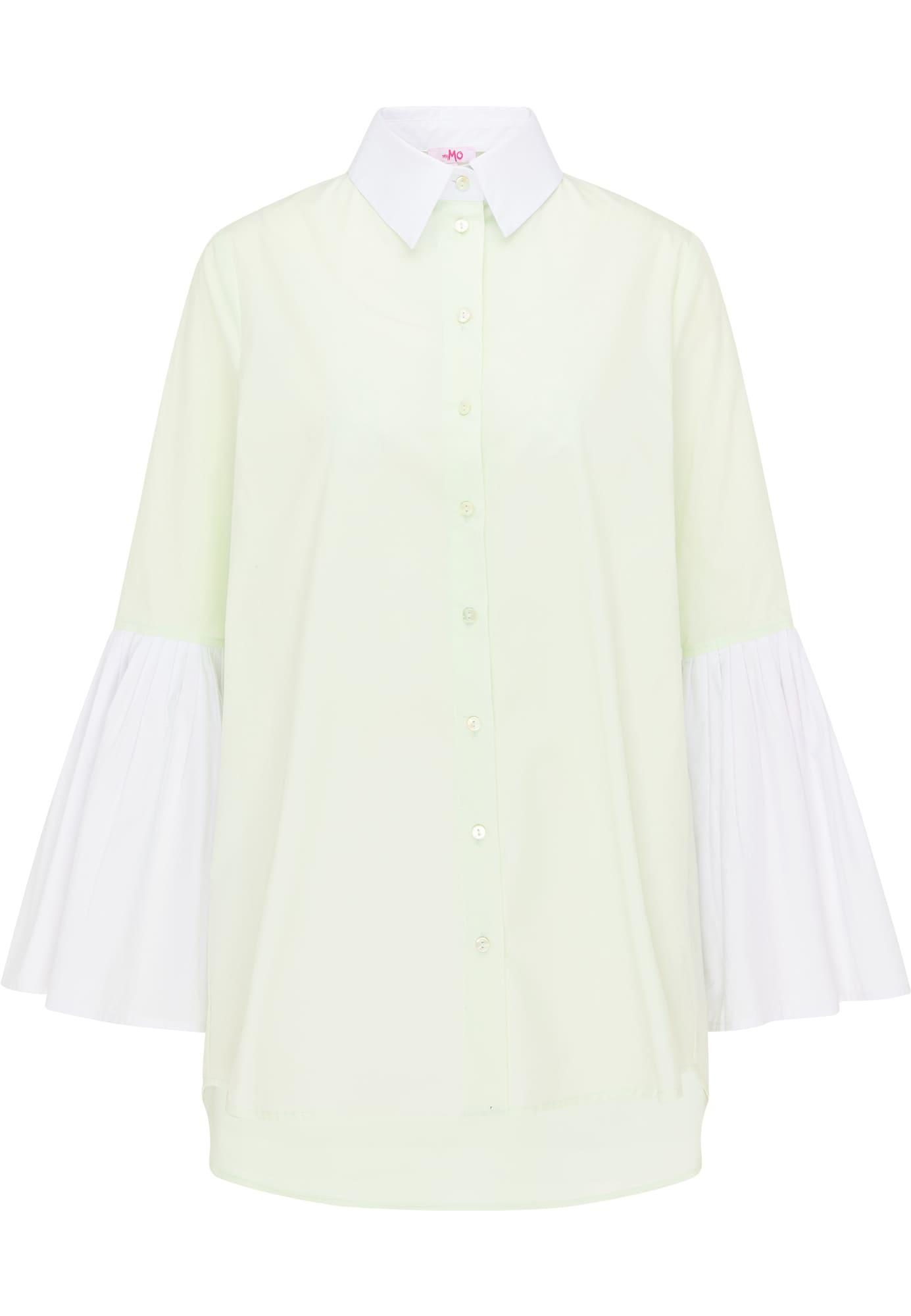 MYMO Palaidinė balta / pastelinė geltona