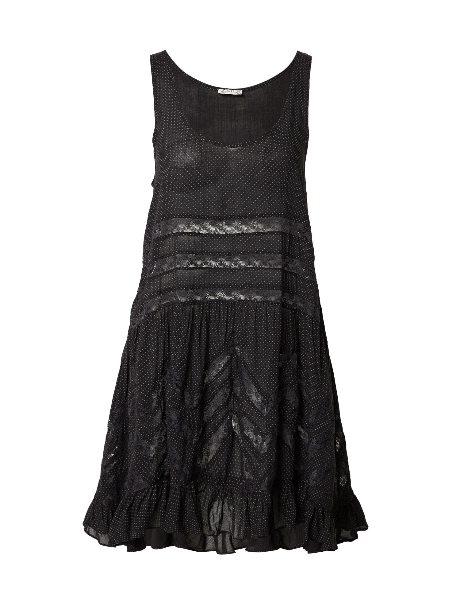Free People Vasarinė suknelė juoda / šviesiai pilka