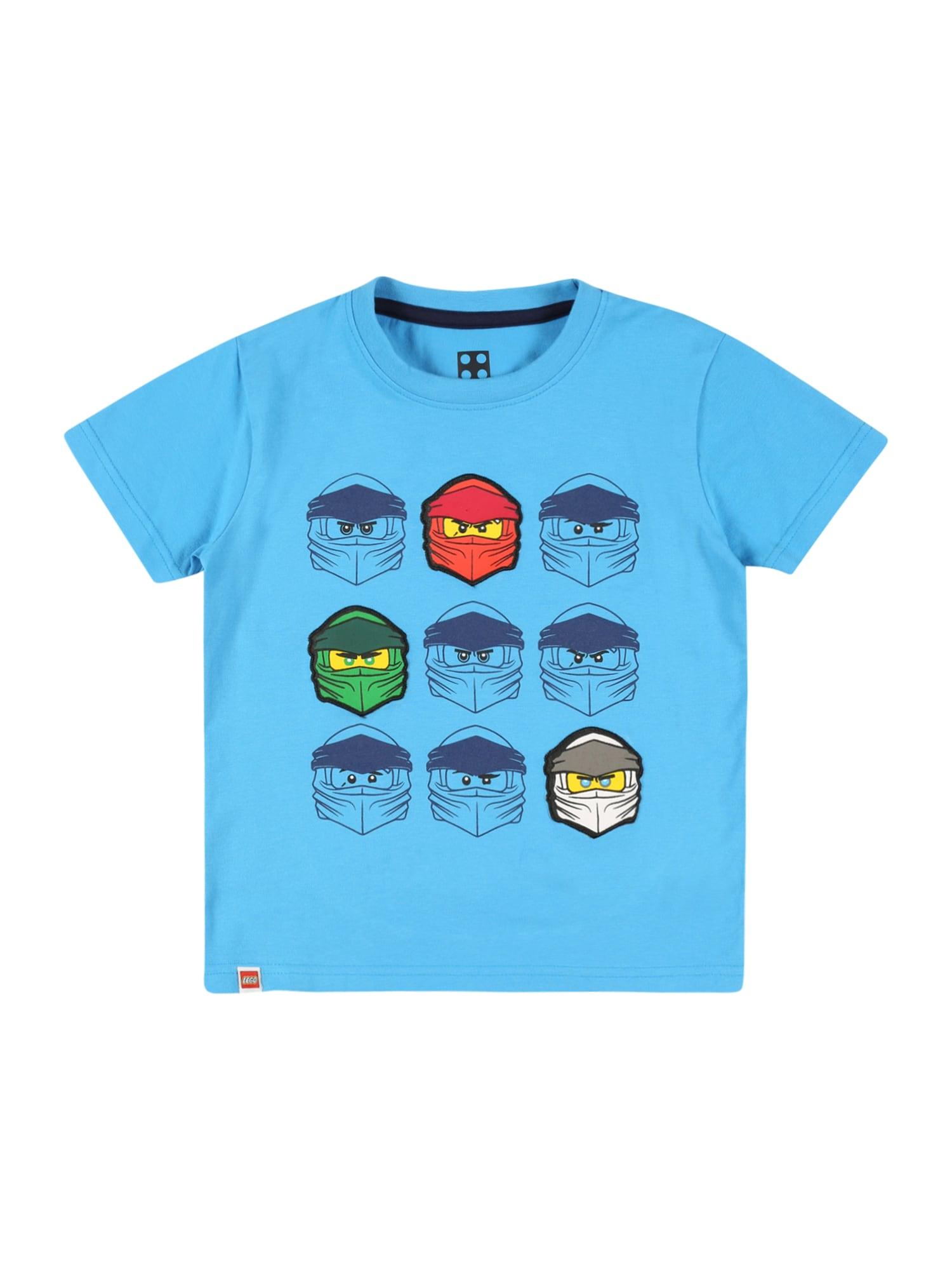 LEGO WEAR Marškinėliai dangaus žydra / tamsiai mėlyna jūros spalva / tamsiai pilka / žaliosios citrinos spalva / melionų spalva