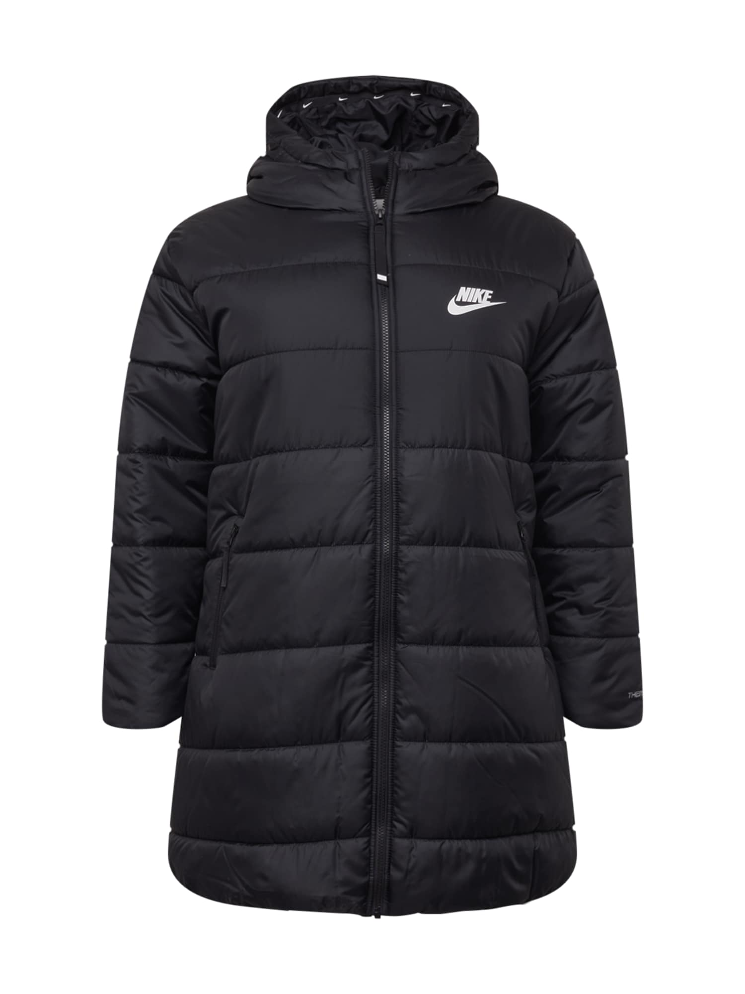 Nike Sportswear Demisezoninis paltas juoda / balta