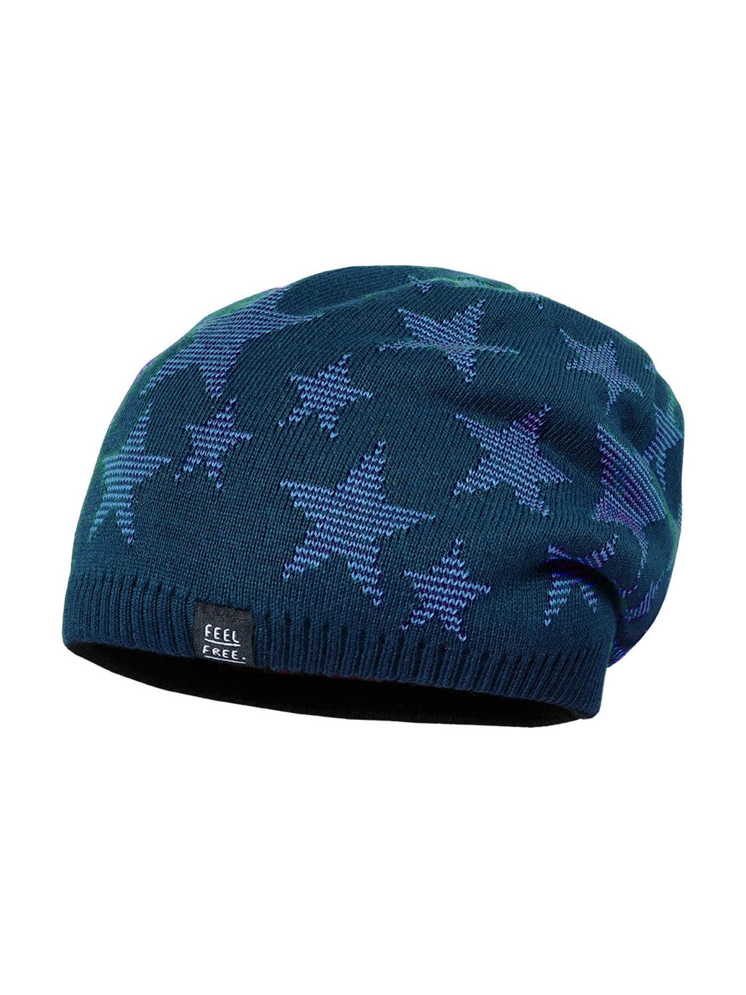 MAXIMO Megzta kepurė mėlyna / tamsiai pilka / dangaus žydra