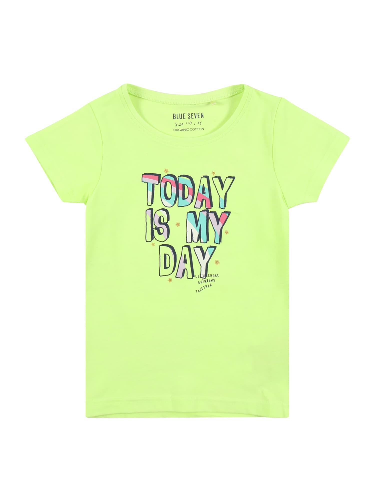 BLUE SEVEN Marškinėliai šviesiai žalia / tamsiai mėlyna / mėlyna / rožinė / balta