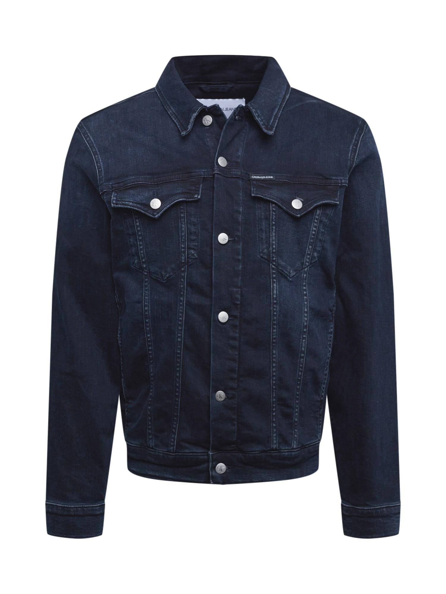 Calvin Klein Jeans Demisezoninė striukė 'Foundation' tamsiai (džinso) mėlyna