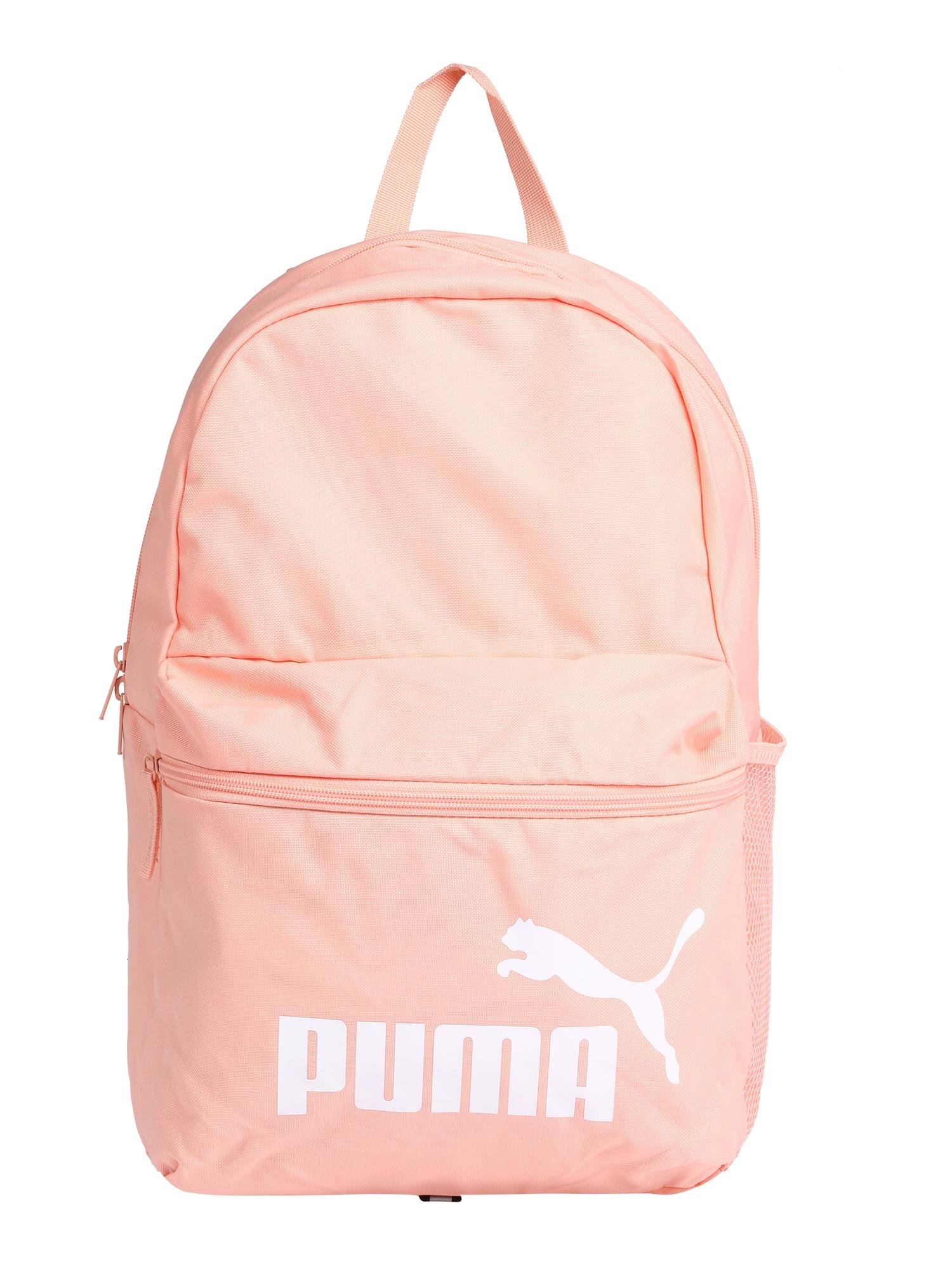 PUMA Sportinė kuprinė 'Phase' abrikosų spalva / balta