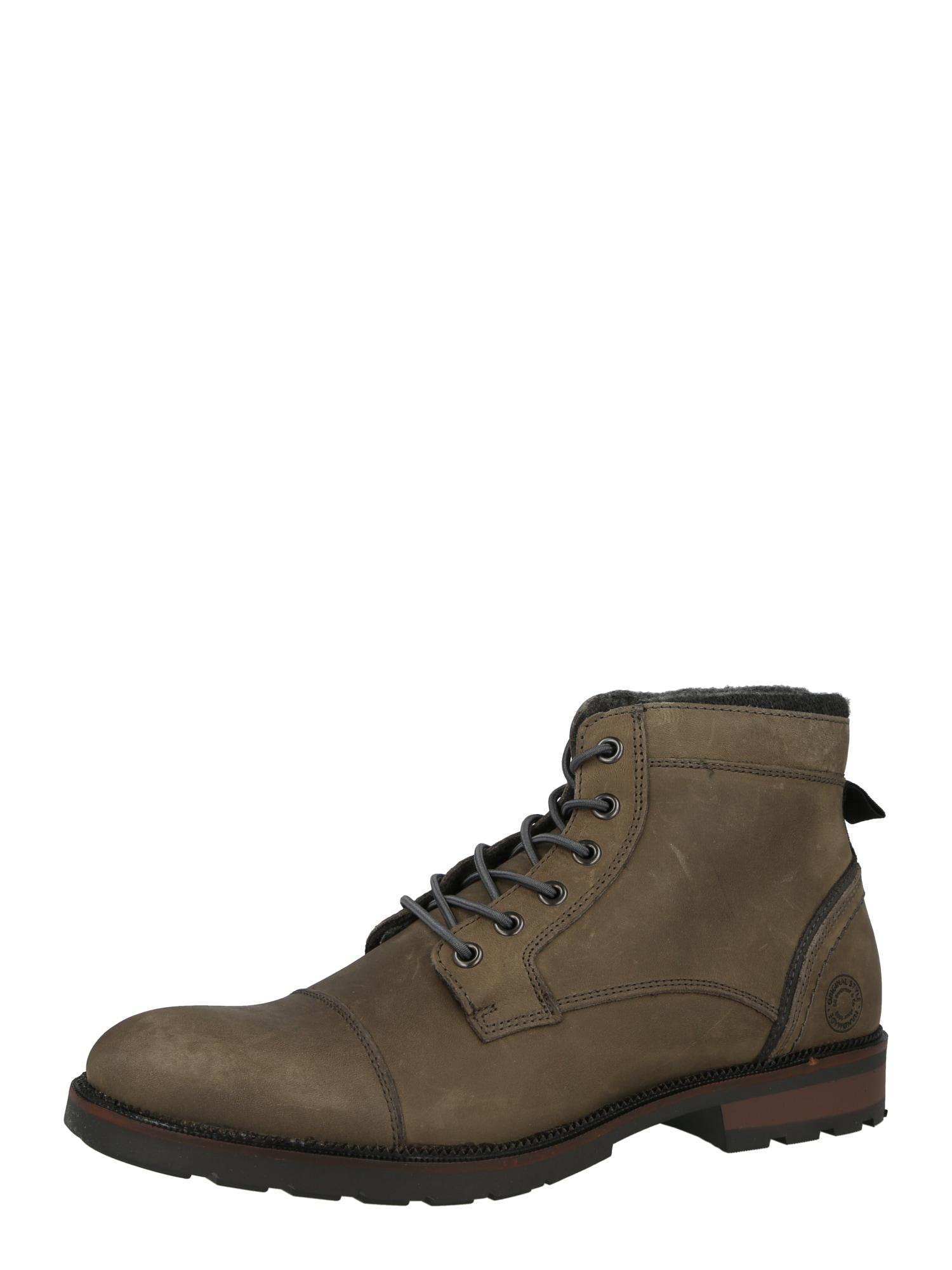 BULLBOXER Šněrovací boty  barvy bláta