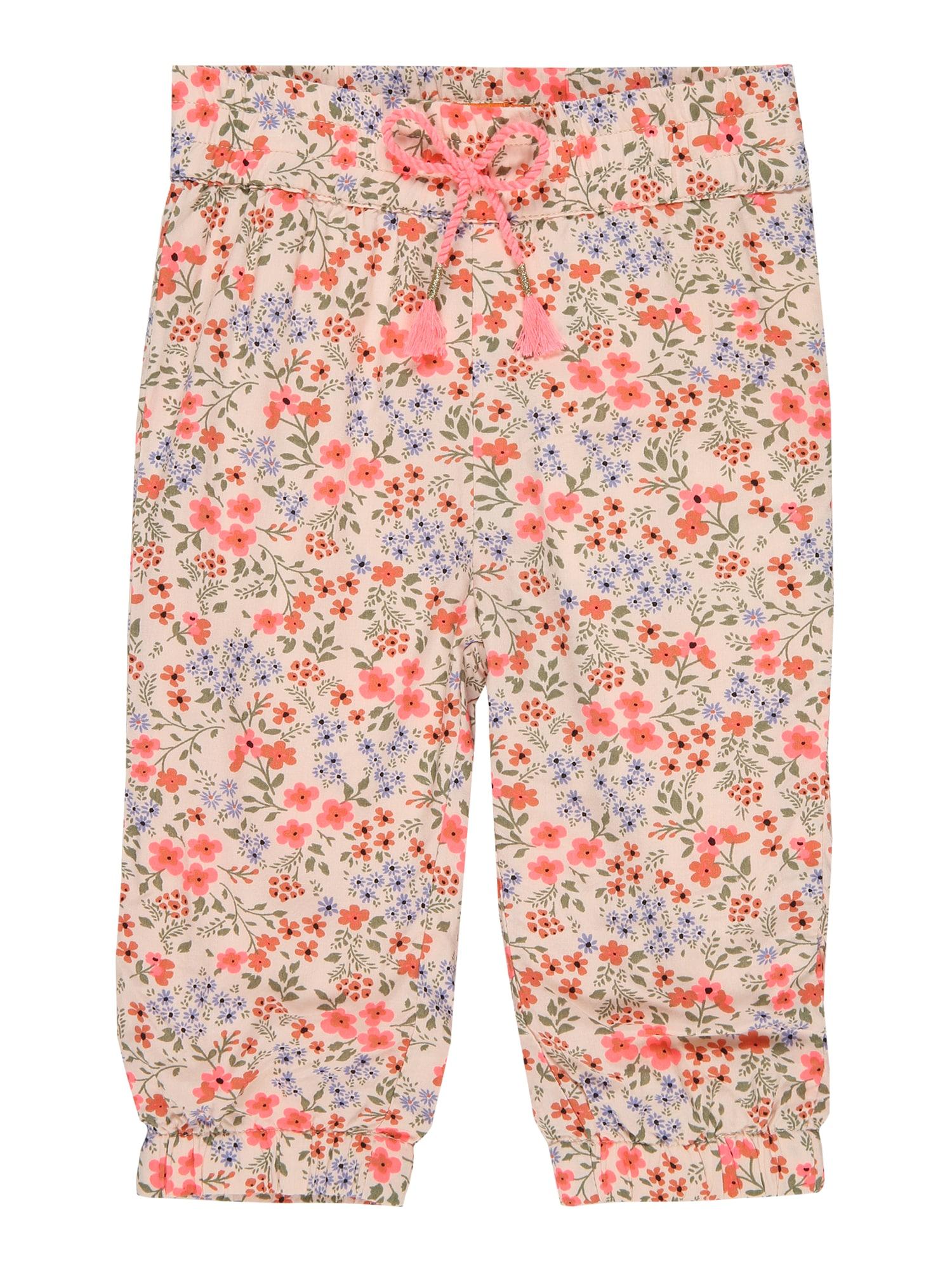 STACCATO Kelnės pastelinė rožinė / rusvai žalia / šviesiai mėlyna / rožinė