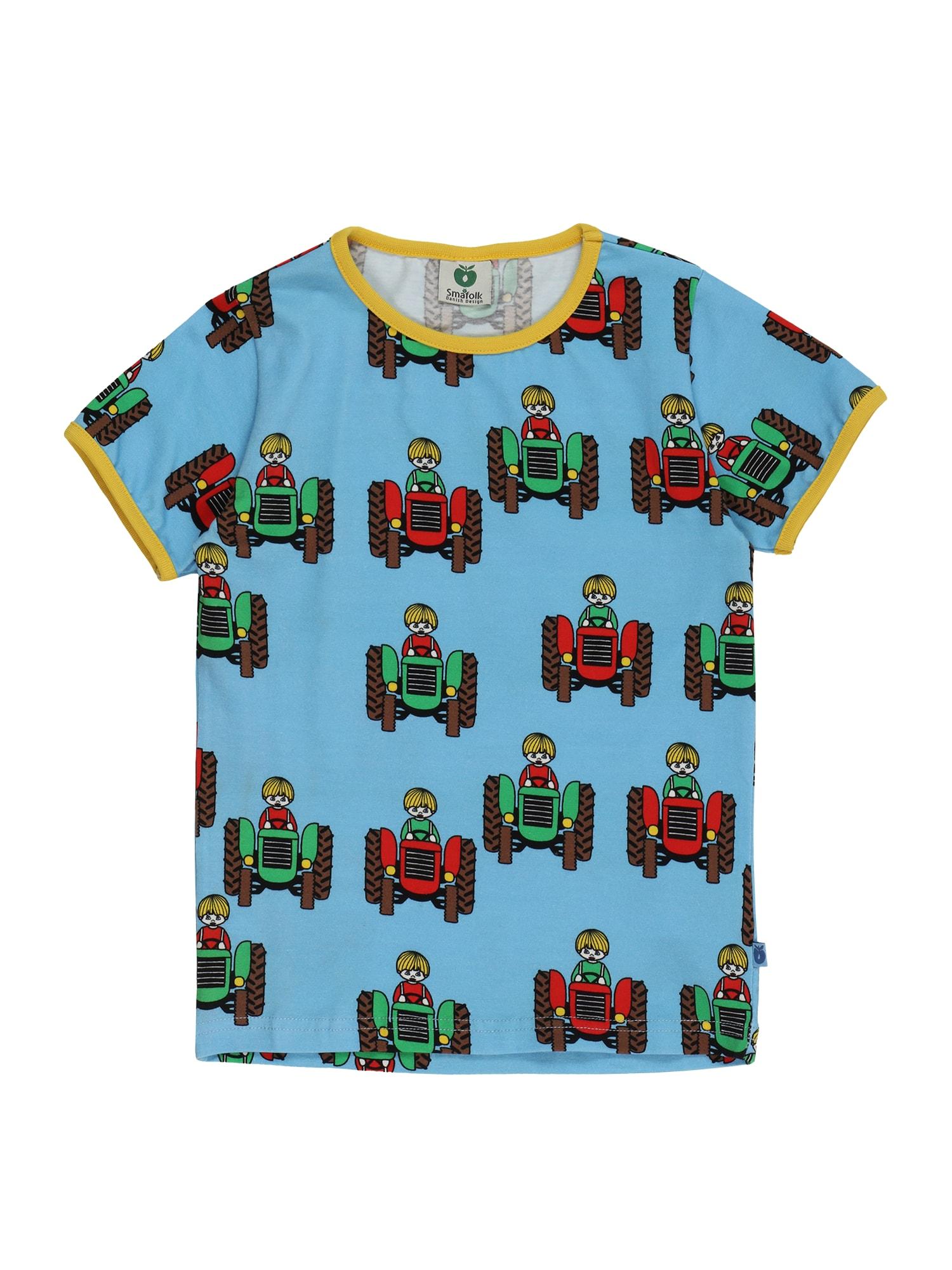 Småfolk Marškinėliai šviesiai mėlyna / tamsiai ruda / žalia / raudona / geltona