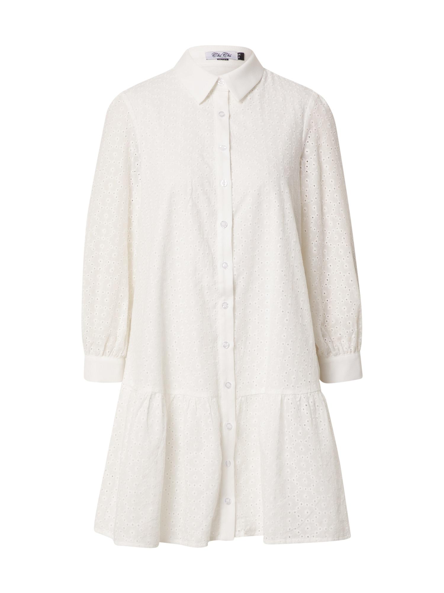 Chi Chi London Palaidinės tipo suknelė natūrali balta